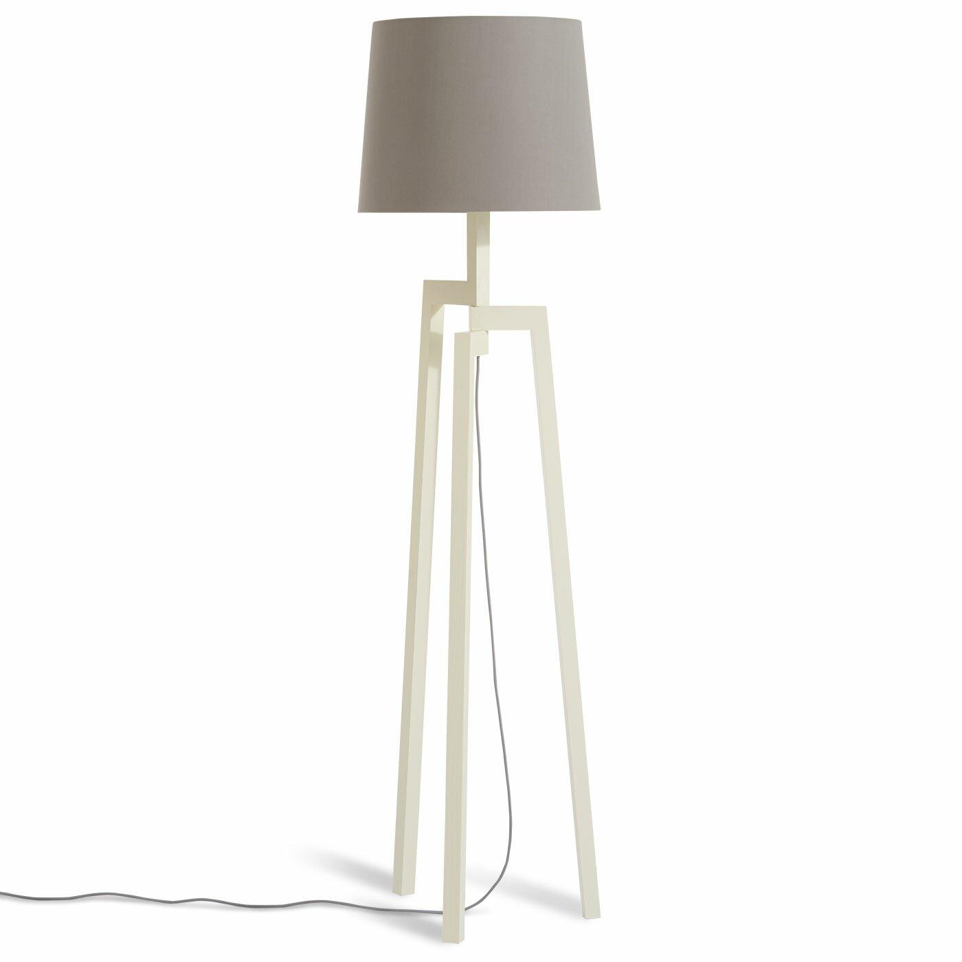 Blu dot stilt wooden 655quot tripod floor lamp reviews for Wayfair wood floor lamp