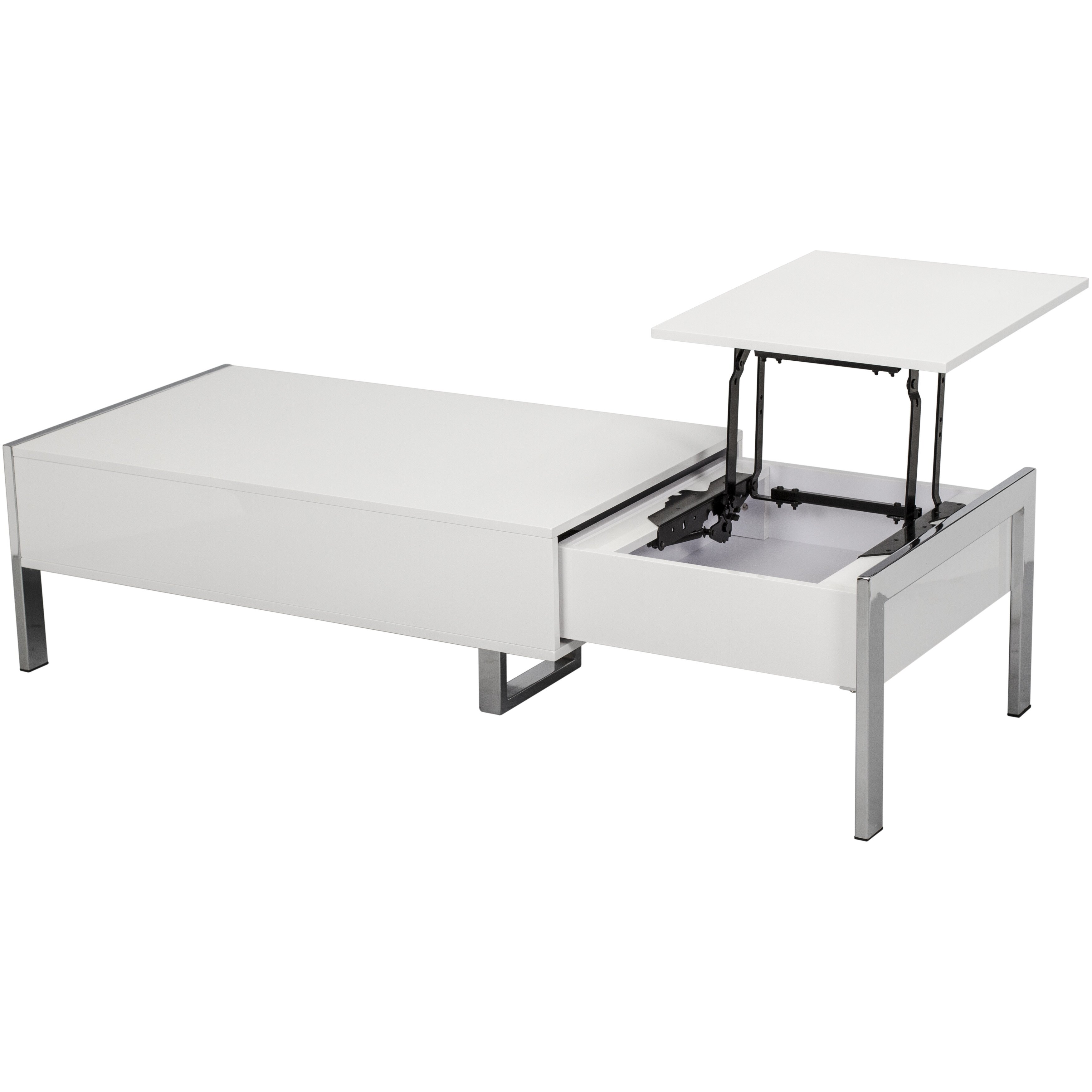 White Lift Top Coffee Tables: Matrix Selva White Coffee Table With Lift Top & Reviews