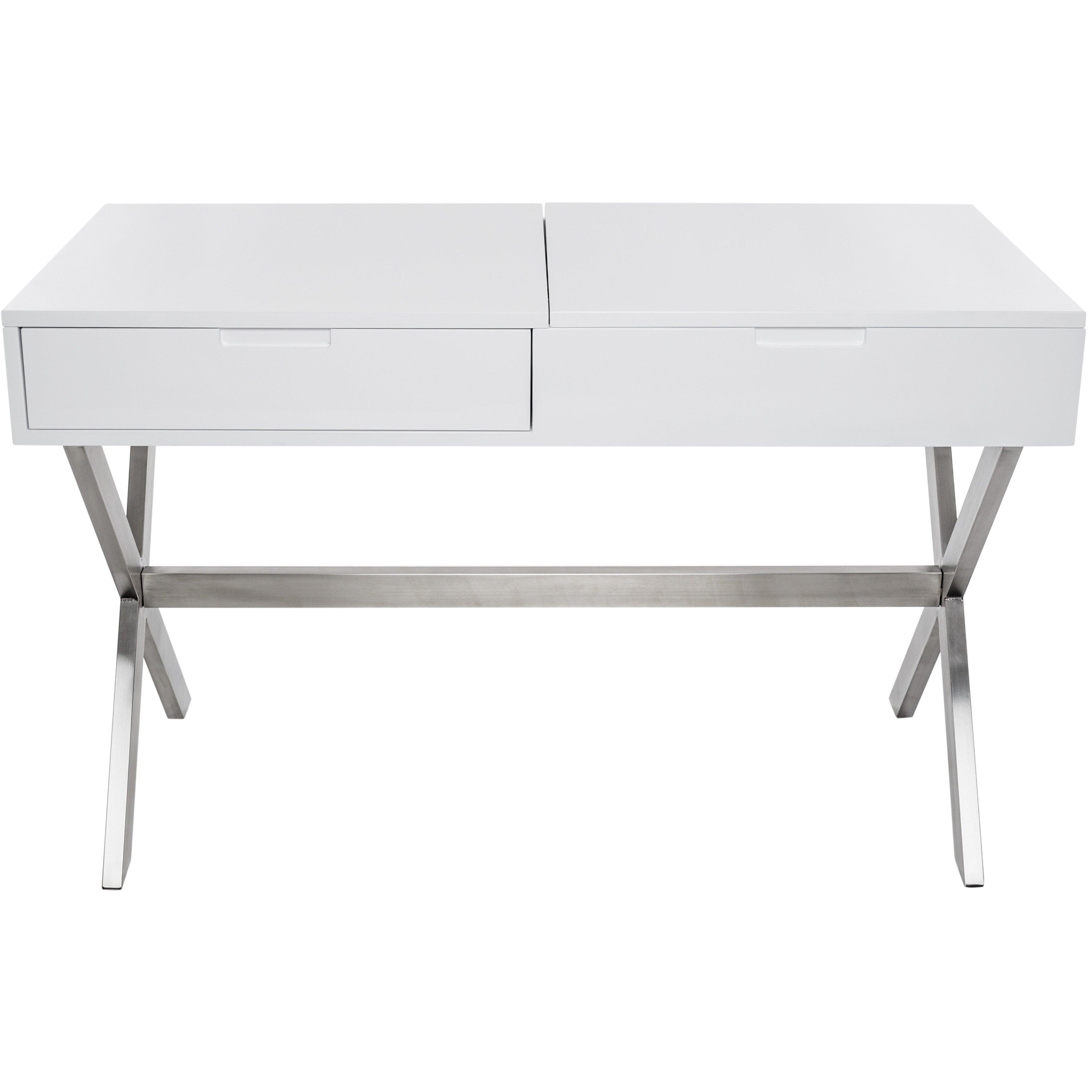 #6A6661 Matrix Porsha Desk Vanity Set With Mirror & Reviews Wayfair with 3500x3500 px of Best Wayfair White Desk 35003500 image @ avoidforclosure.info