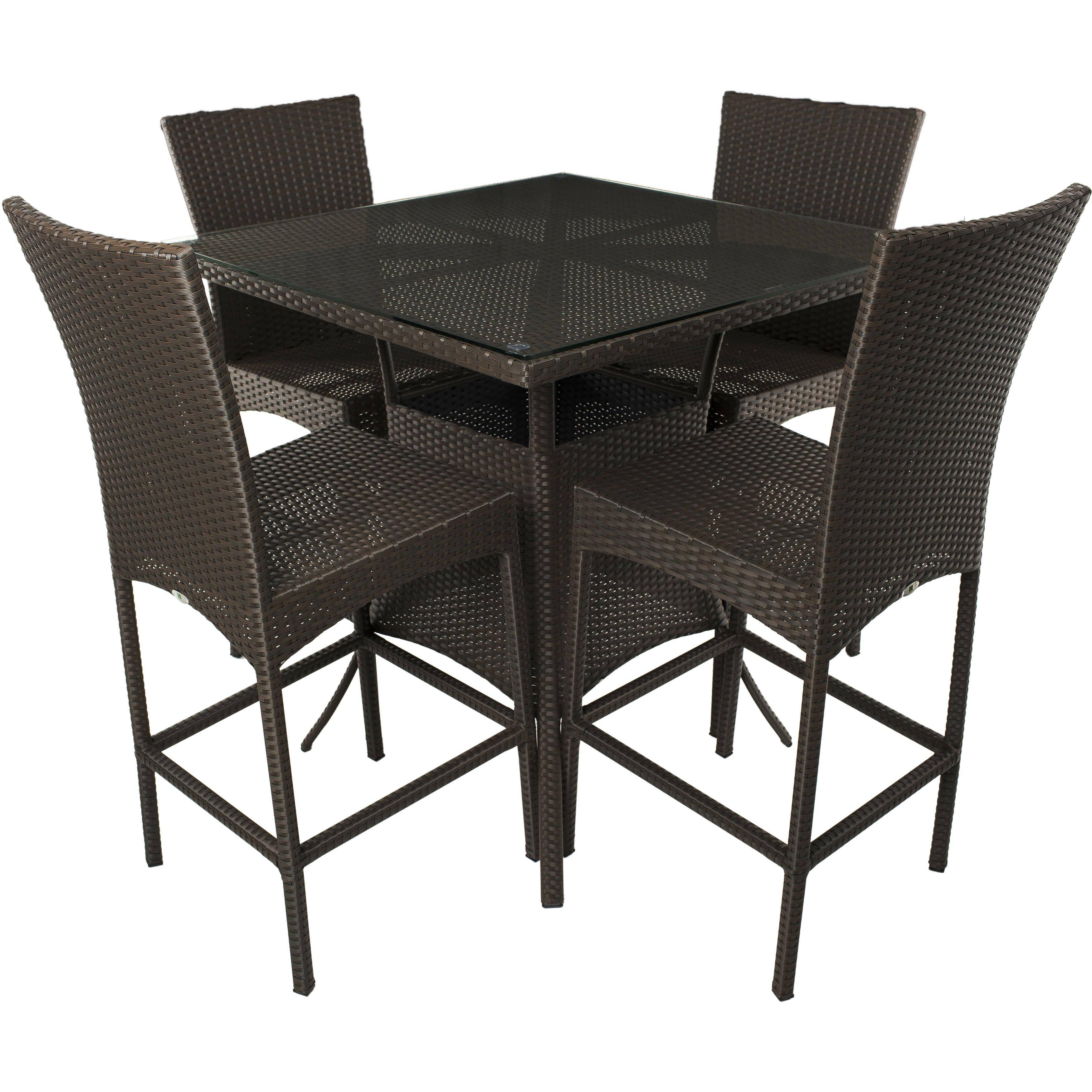 matrix 5 piece pub table set. Black Bedroom Furniture Sets. Home Design Ideas