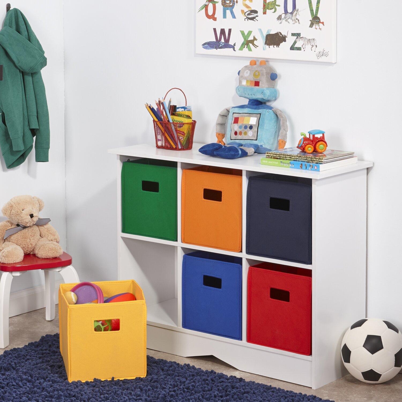 Kids Room Bedroom Storage Chest Unit Box With Lid For Sale: RiverRidge Kids RiverRidge Kids 6 Compartment Storage