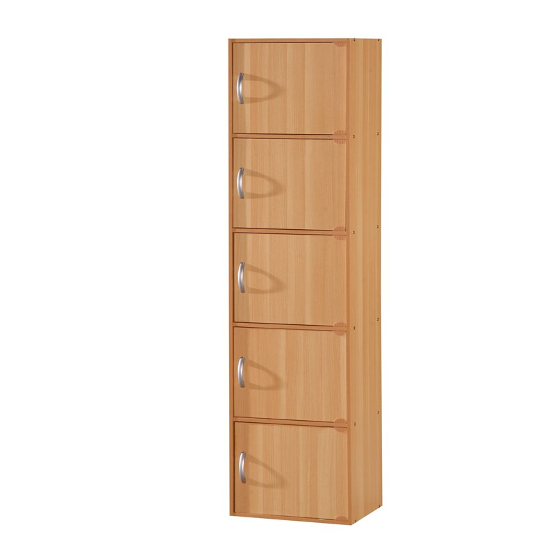 Hodedah 5 door storage cabinet reviews wayfair - Tall kitchen utility cabinets ...