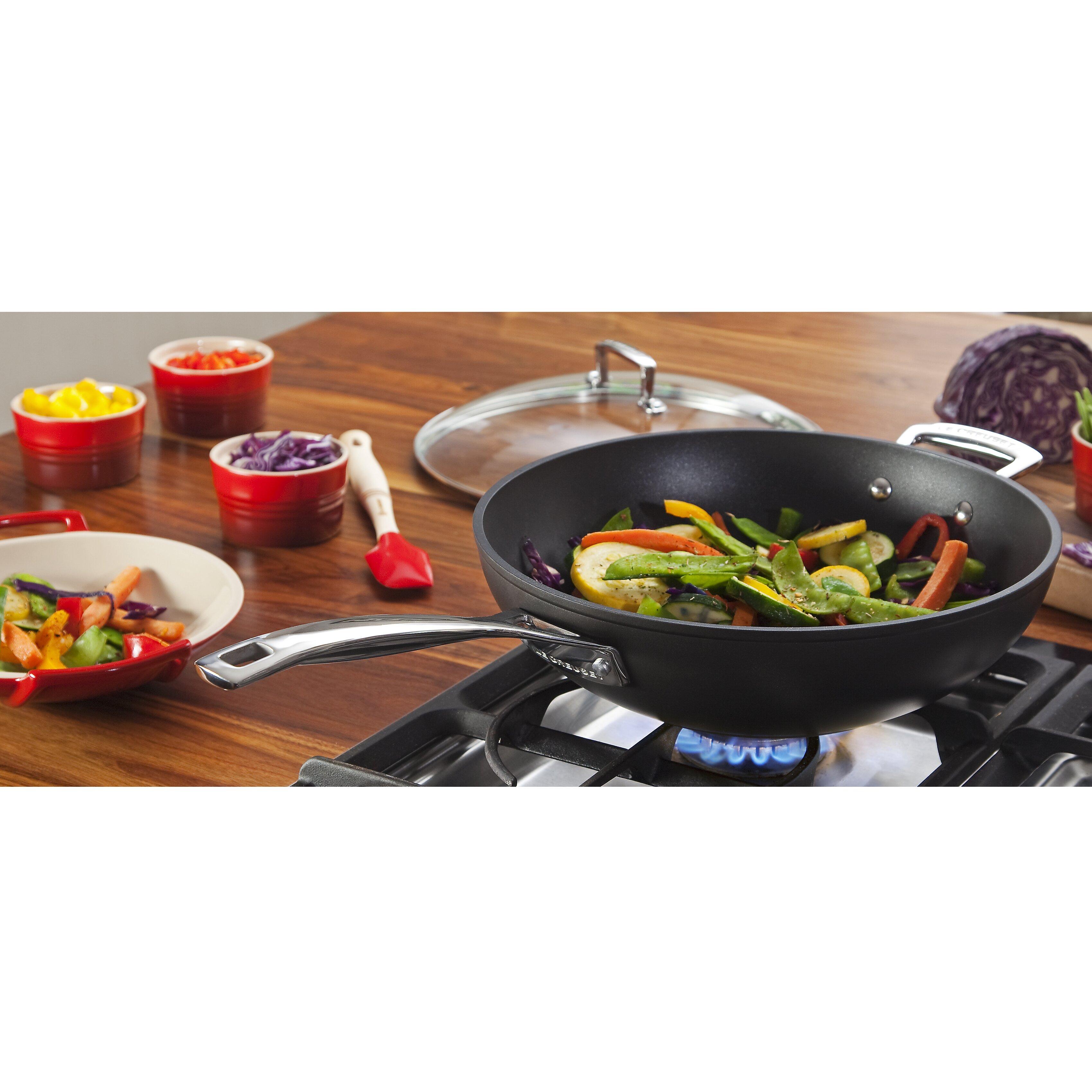 le creuset toughened nonstick 12 wok reviews wayfair. Black Bedroom Furniture Sets. Home Design Ideas