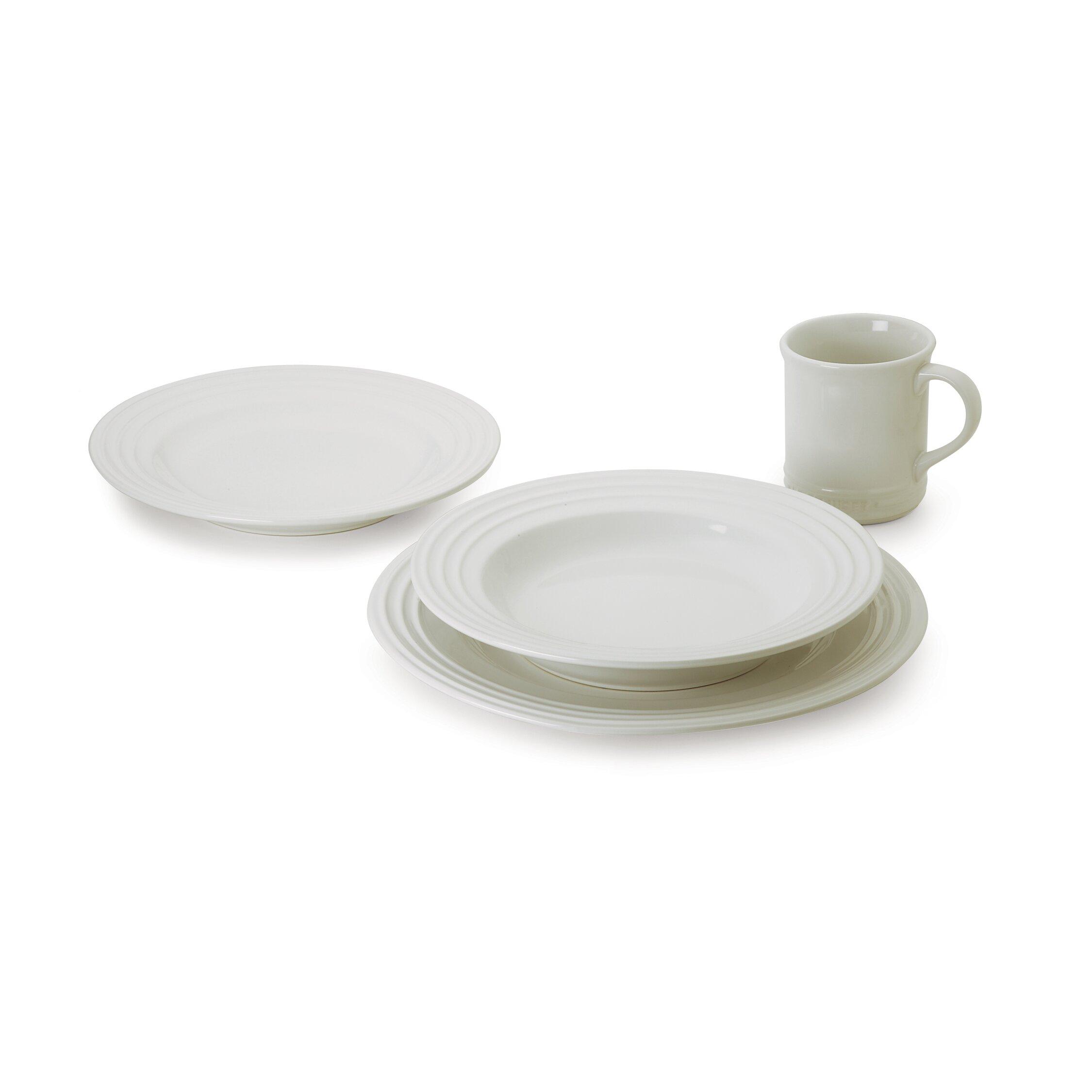 Le creuset stoneware 16 piece dinnerware set reviews for Kitchen dish sets