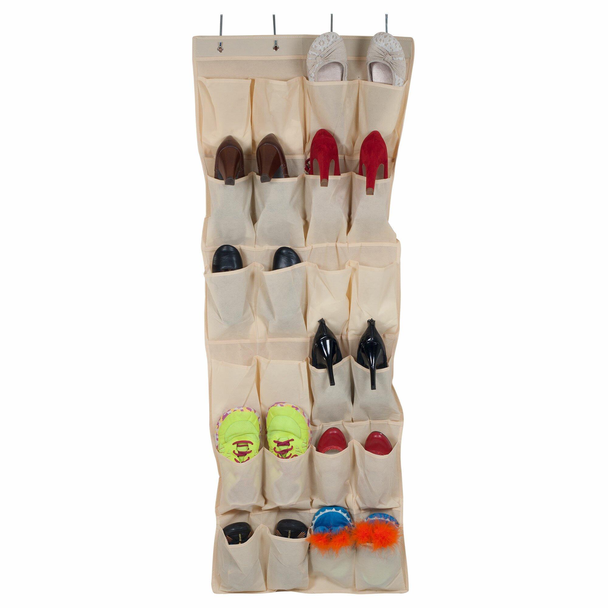 Lavish home 24 pocket overdoor shoe organizer reviews for 12 pocket over the door shoe organizer