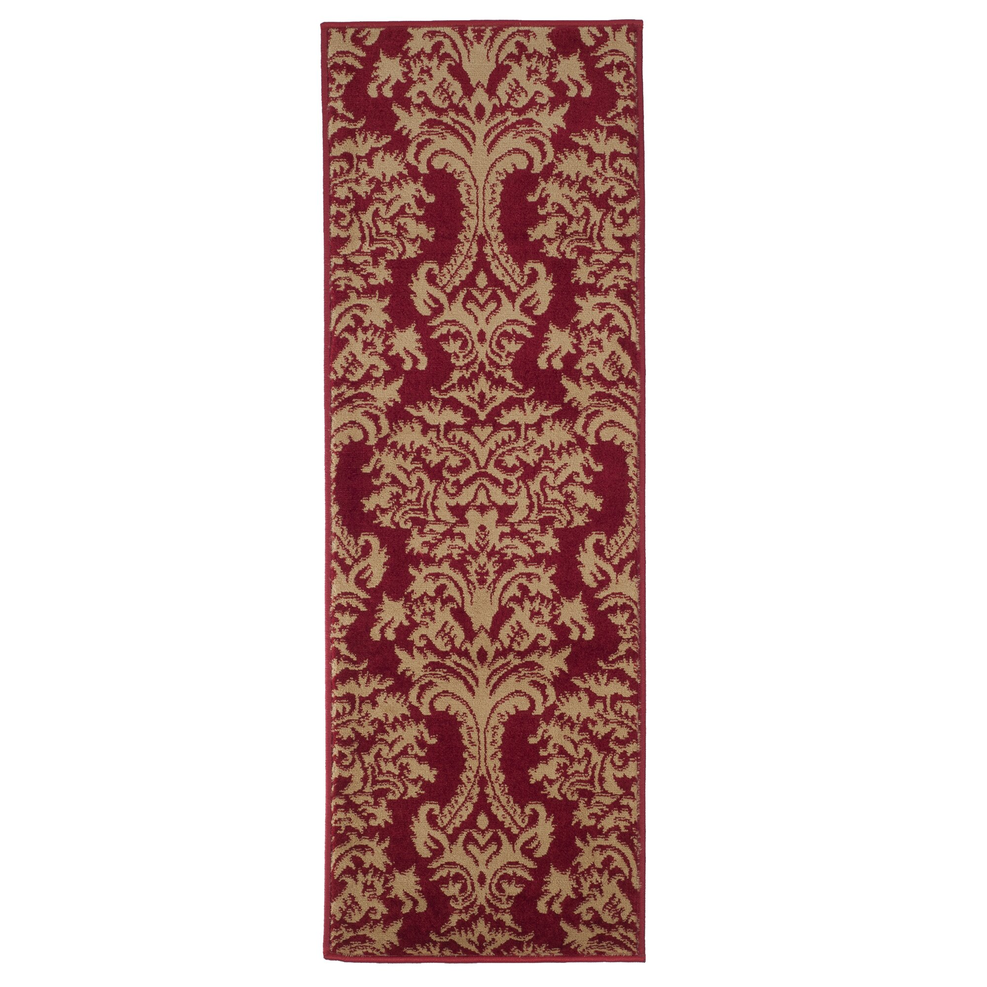 Lavish home oriental red and gold area rug reviews wayfair for Red and gold area rugs