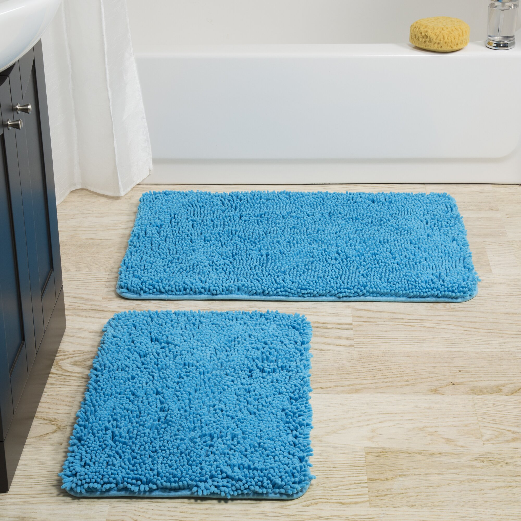 Lavish Home 2 Piece Bath Mat Set & Reviews