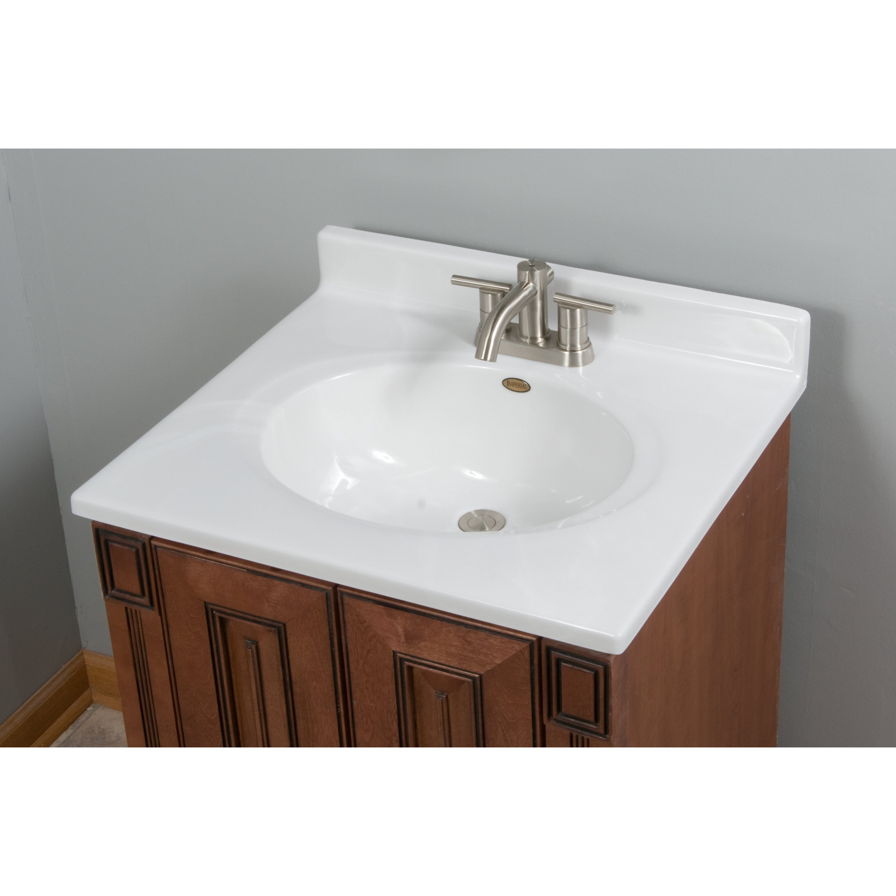"""Imperial Classic Center Oval Bowl 25"""" Single Bathroom Vanity Top & R"""