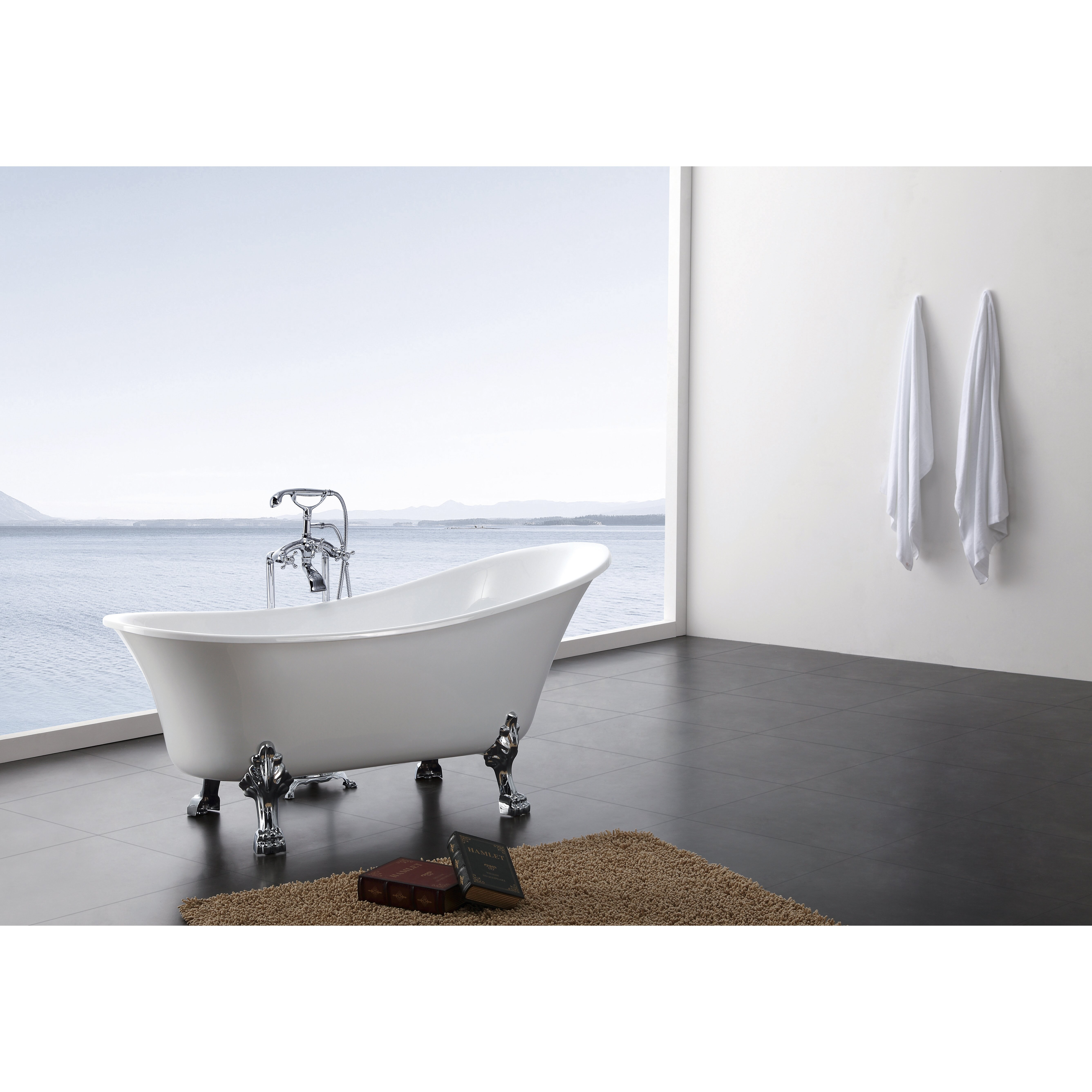 A Amp E Bath And Shower Dorya 69 Quot X 28 Quot Clawfoot Bathtub