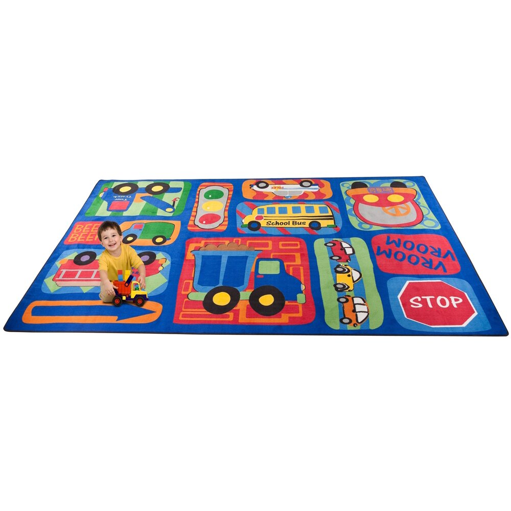 Kid Carpet Vroom Vroom Car Play Area Rug & Reviews