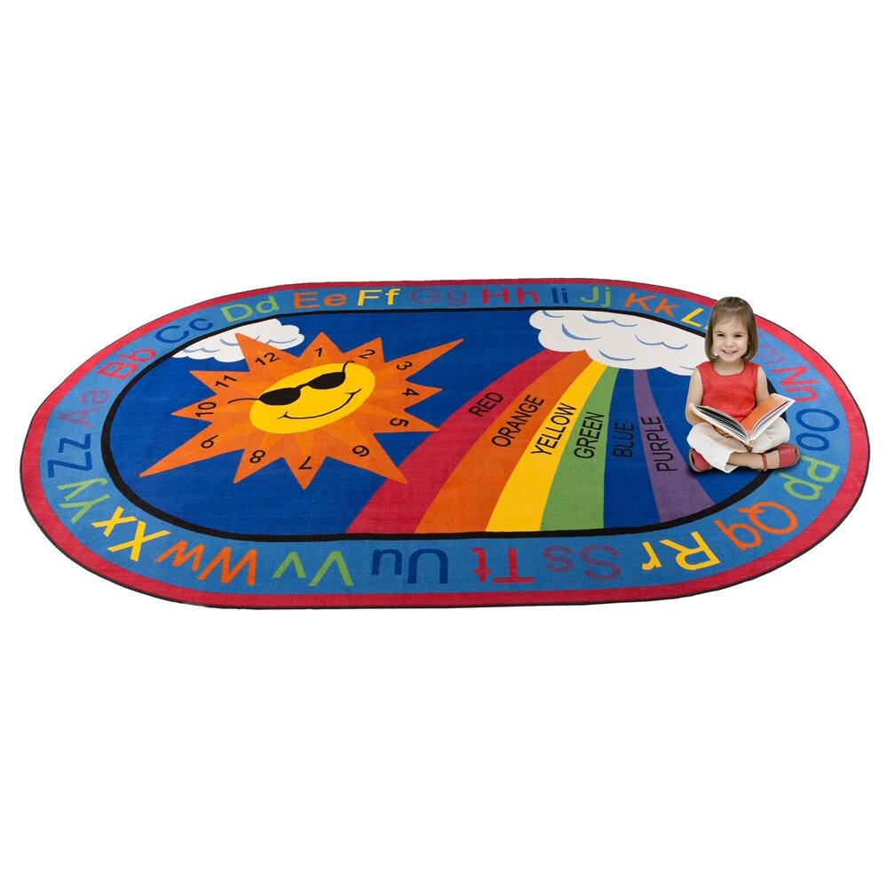 Learning Rug: Kid Carpet Sky's The Limit Learning Area Rug & Reviews