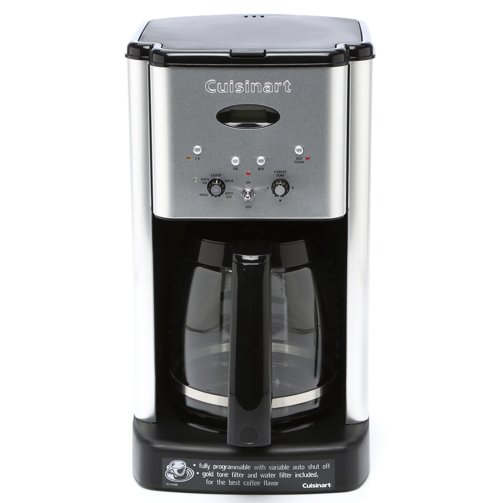 cuisinart 12 cup coffee maker cuisinart 12 cup brew central programmable coffee maker 11012