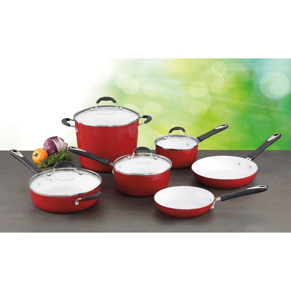 Cuisinart Elements 10 Piece Non Stick Ceramic Cookware Set