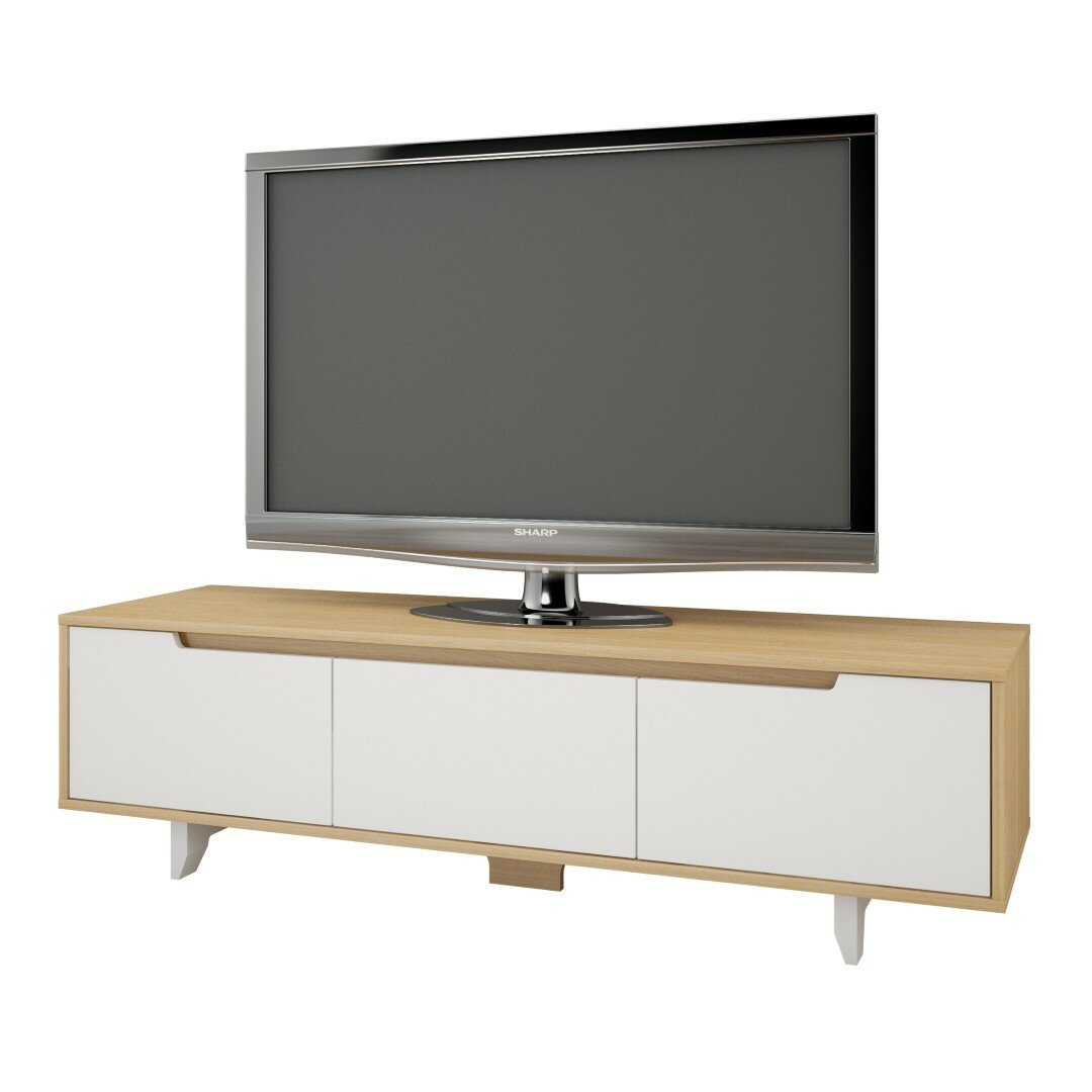 Nexera nordik tv stand reviews wayfair for Meuble console tv