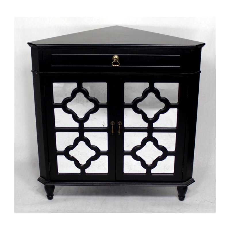 Heather ann wooden corner cabinet with 1 drawer and 2 for 1 drawer 2 door cabinet