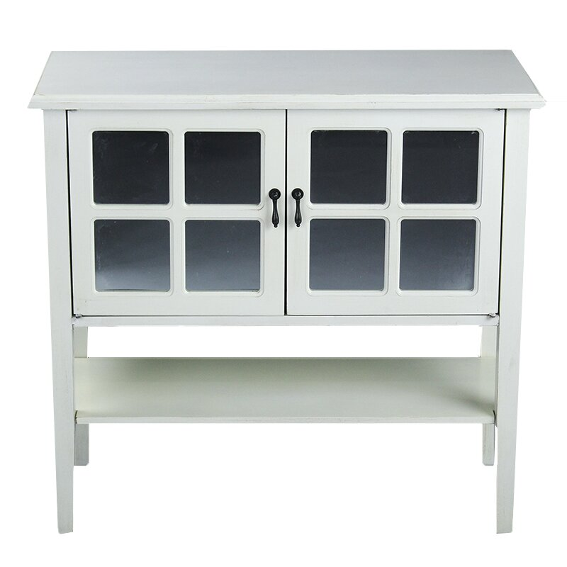 heather ann 2 door console cabinet reviews wayfair. Black Bedroom Furniture Sets. Home Design Ideas