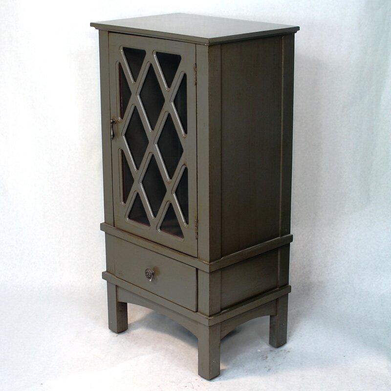 Heather Ann Wooden Cabinet With Glass Insert Reviews Wayfair