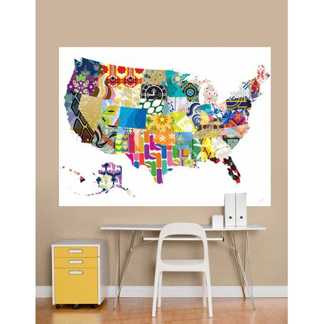 Oopsy daisy patriotic patterns wall mural wayfair for Daisy fuentes wall mural