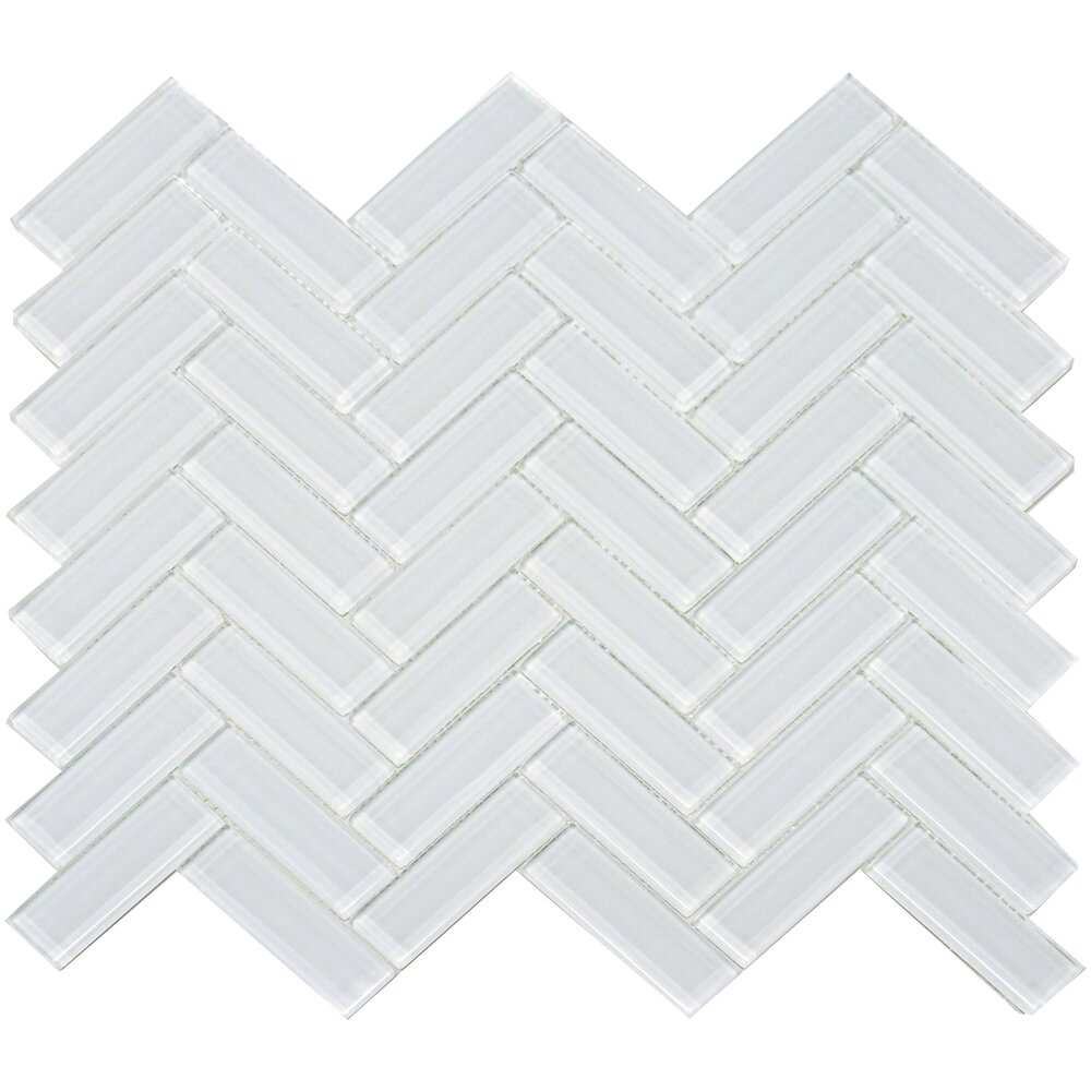 The Bella Collection 3 Quot X 1 Quot Herringbone Shiny Tile In
