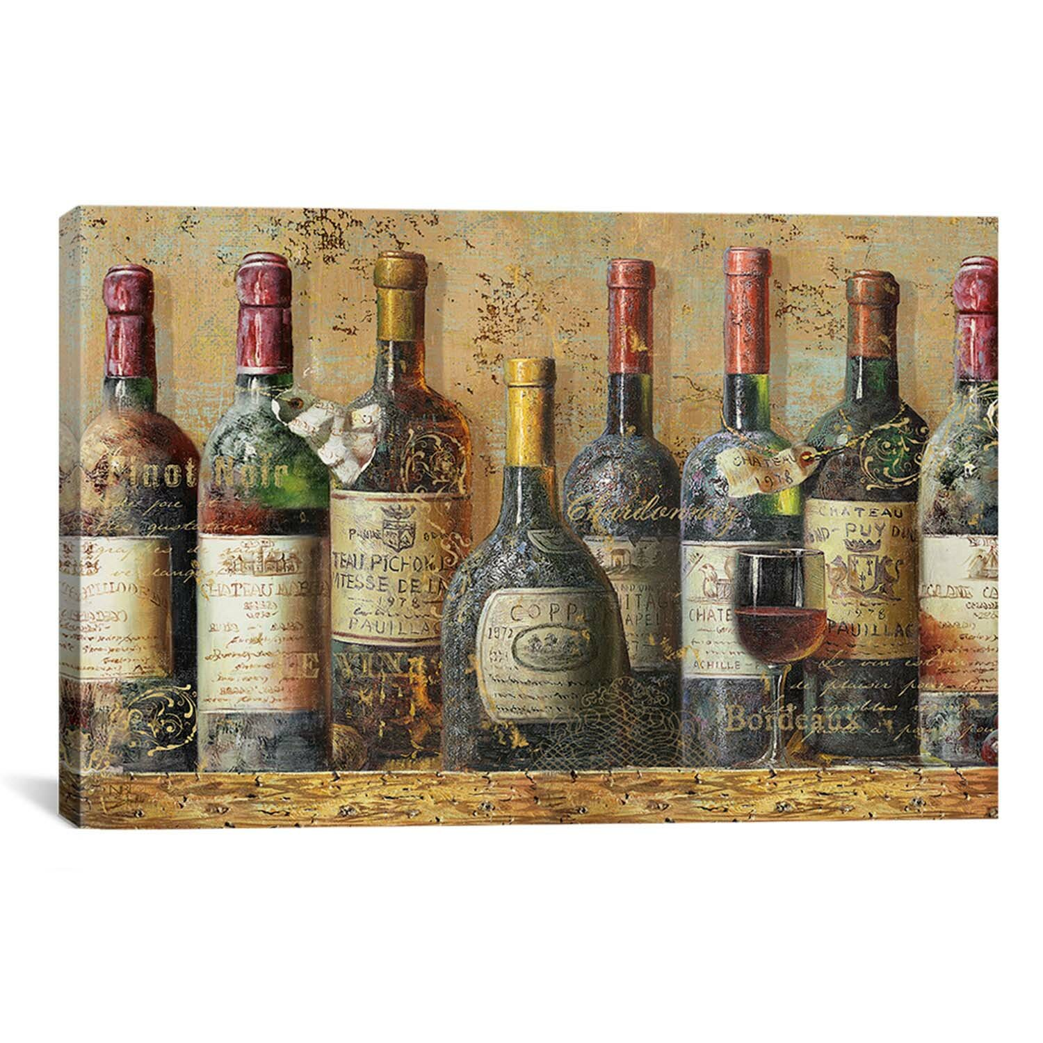 Icanvas wine collection painting print on canvas reviews for Paint vino