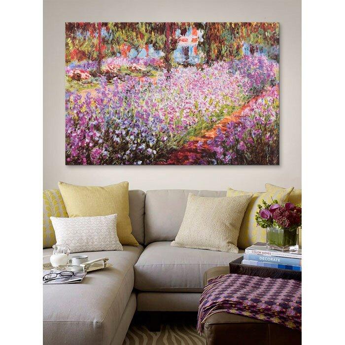 icanvas 39 jardin de giverny 39 by claude monet painting print. Black Bedroom Furniture Sets. Home Design Ideas