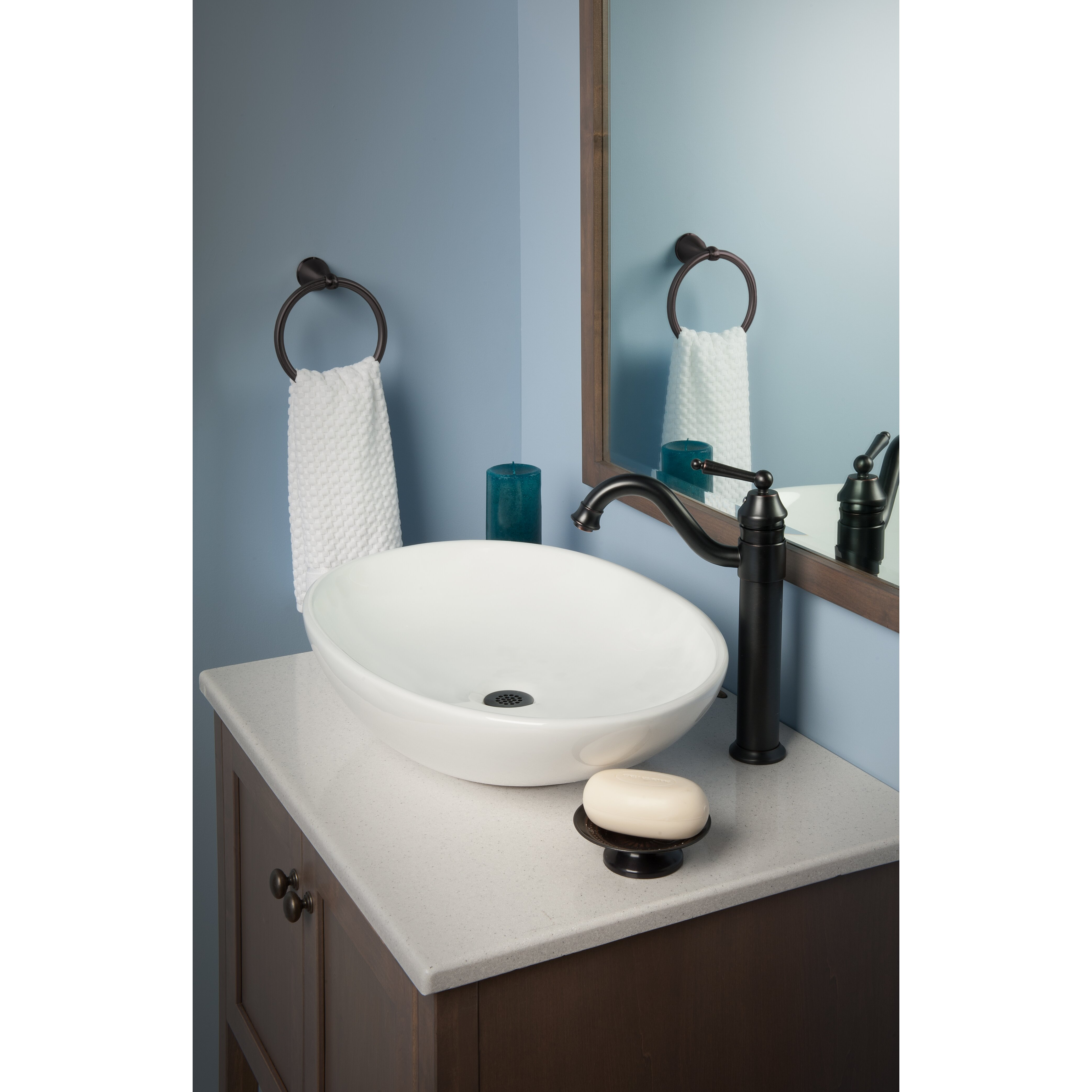 Vessel Sink Overflow : Novatto Oval Ceramic Vessel Bathroom Sink with Overflow Wayfair.ca