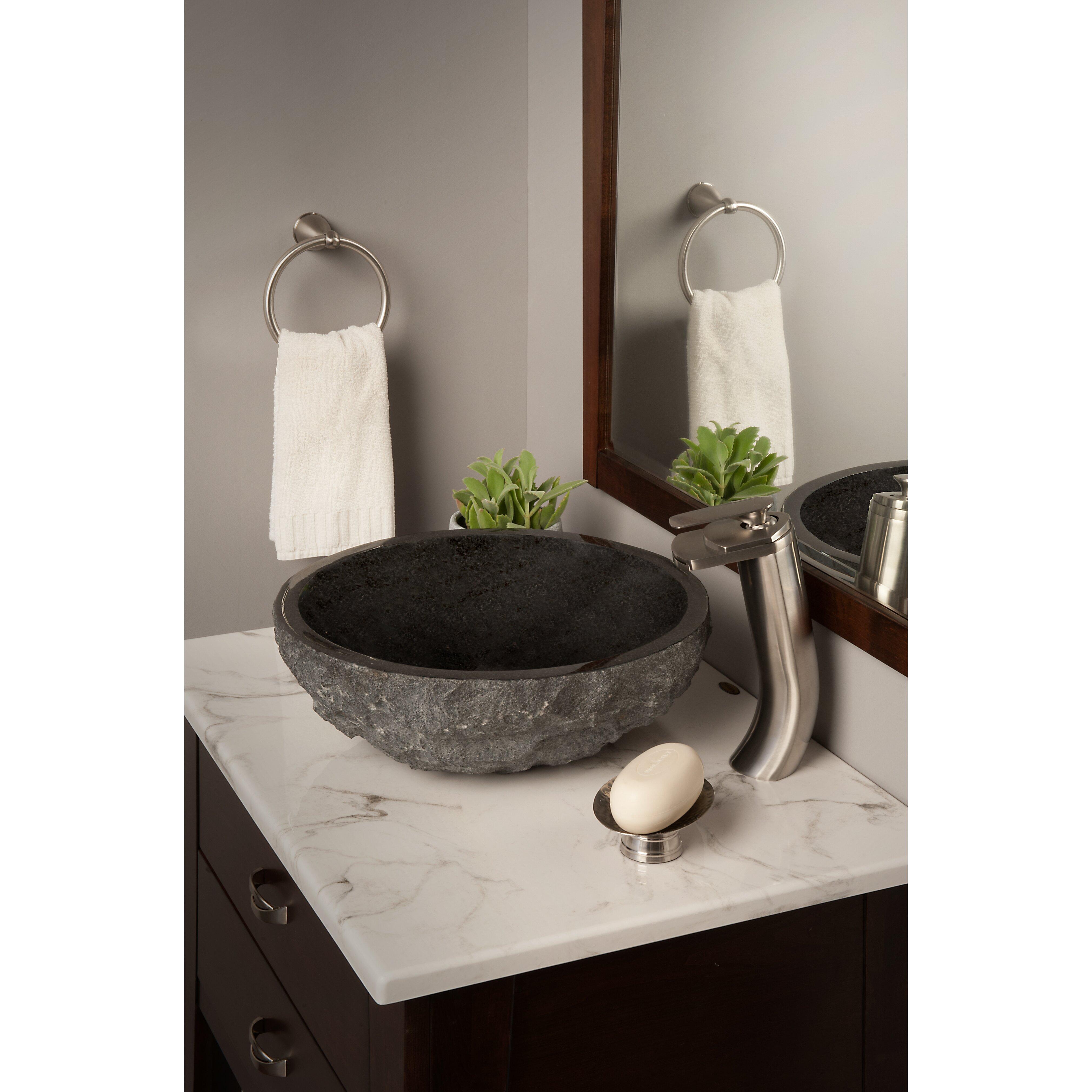 Bathroom Sink Granite : Novatto Absolute Granite Vessel Bathroom Sink & Reviews Wayfair