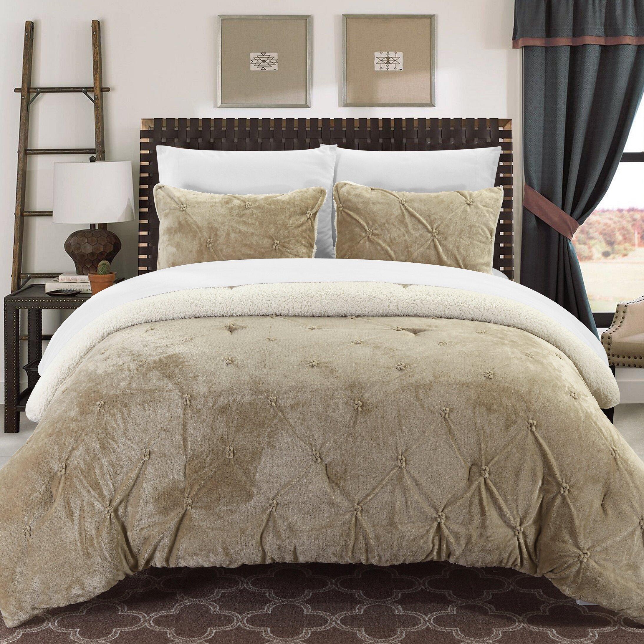 Living Color Sherpa Comforter   Chic Home Design Comforter Sets