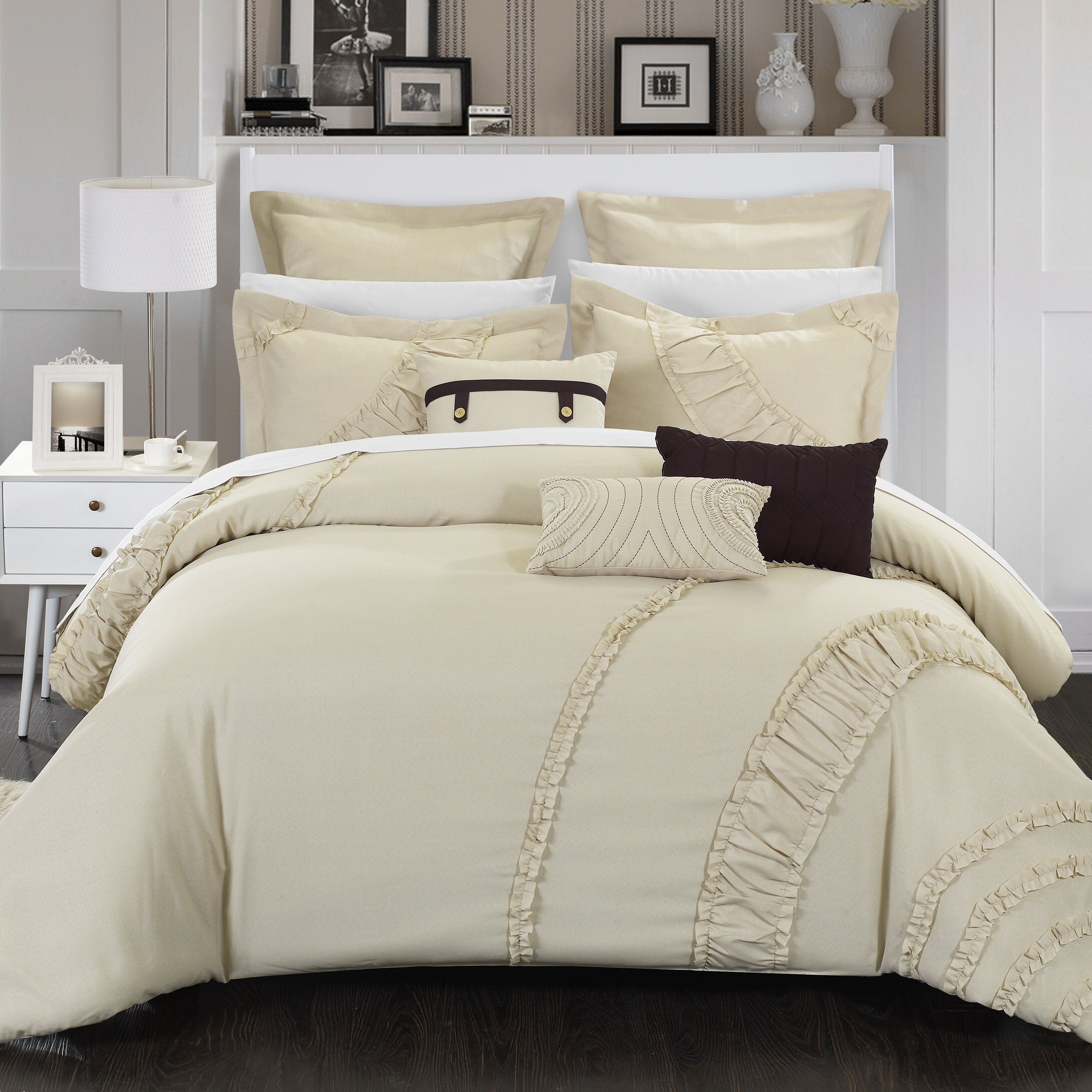 chic home lunar 8 piece comforter set reviews wayfair
