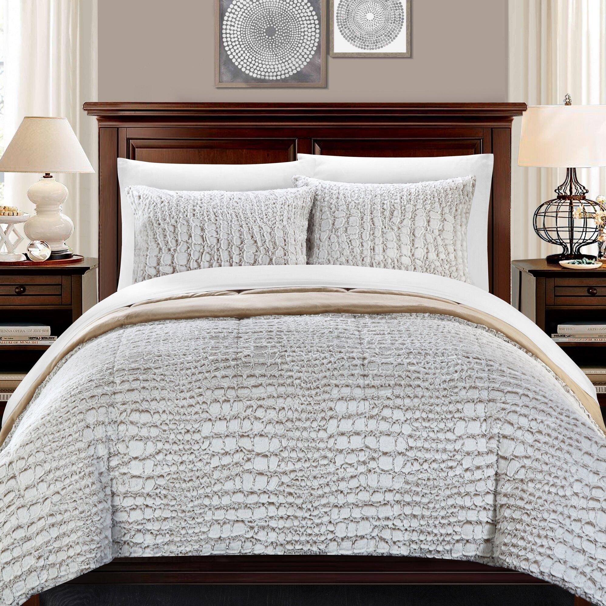 chic home alligator 7 piece queen comforter set reviews wayfair. Black Bedroom Furniture Sets. Home Design Ideas