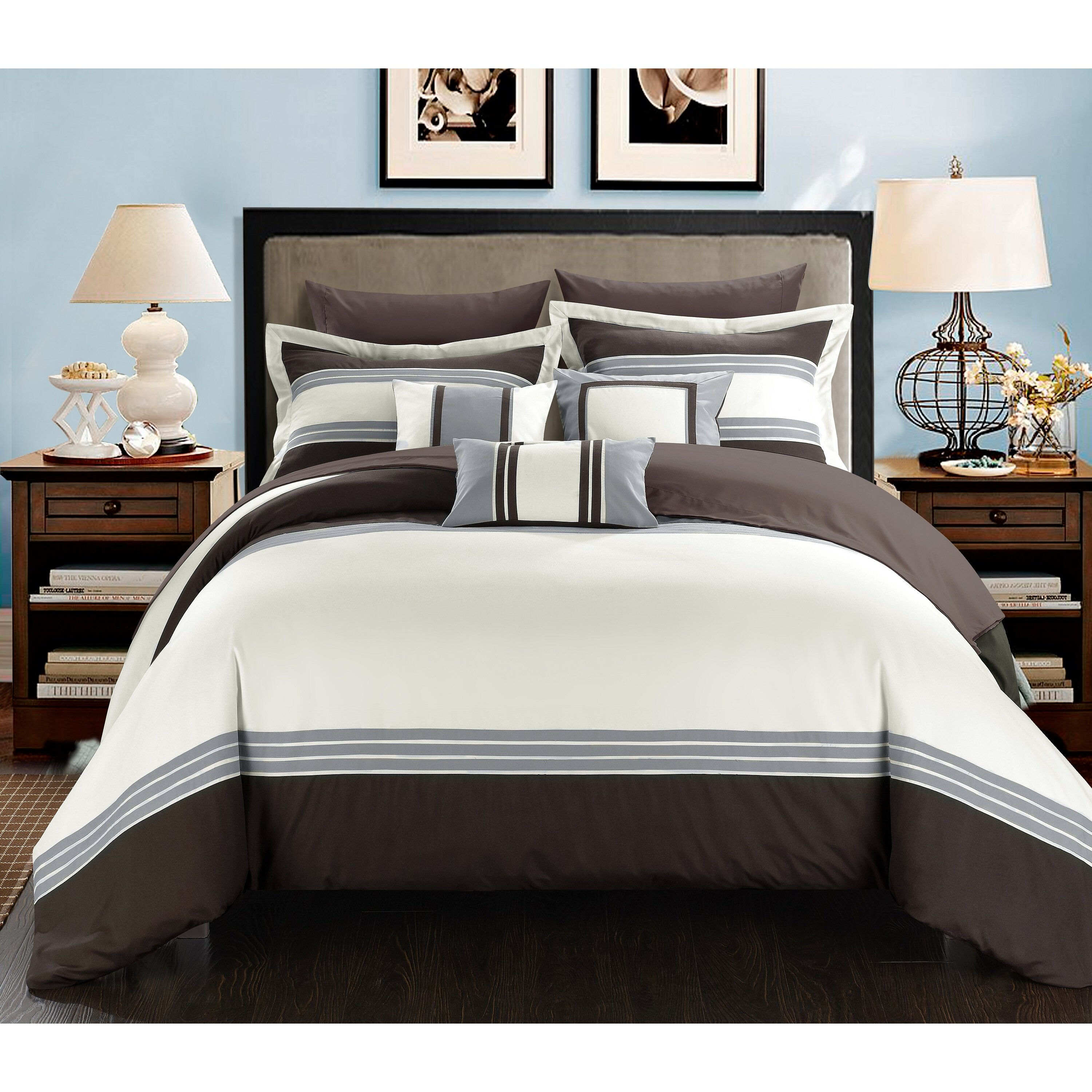 Chic Home Falcon Hotel 8 Piece Twin Bed In A Bag Wayfair