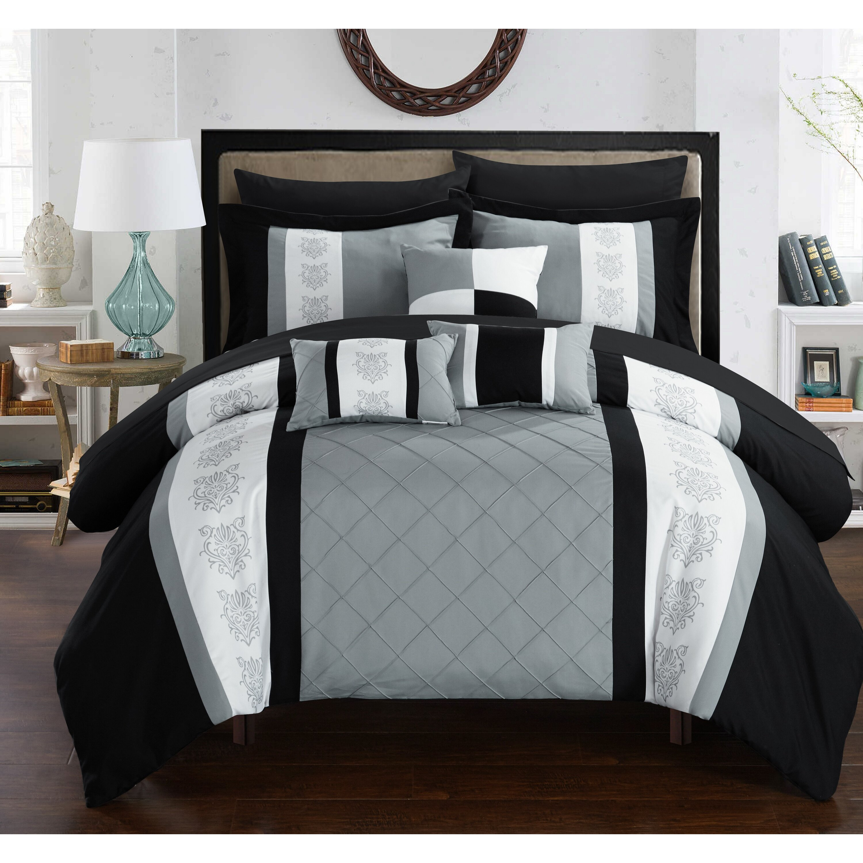 Clayton 8 Piece Comforter Set by Chic Home