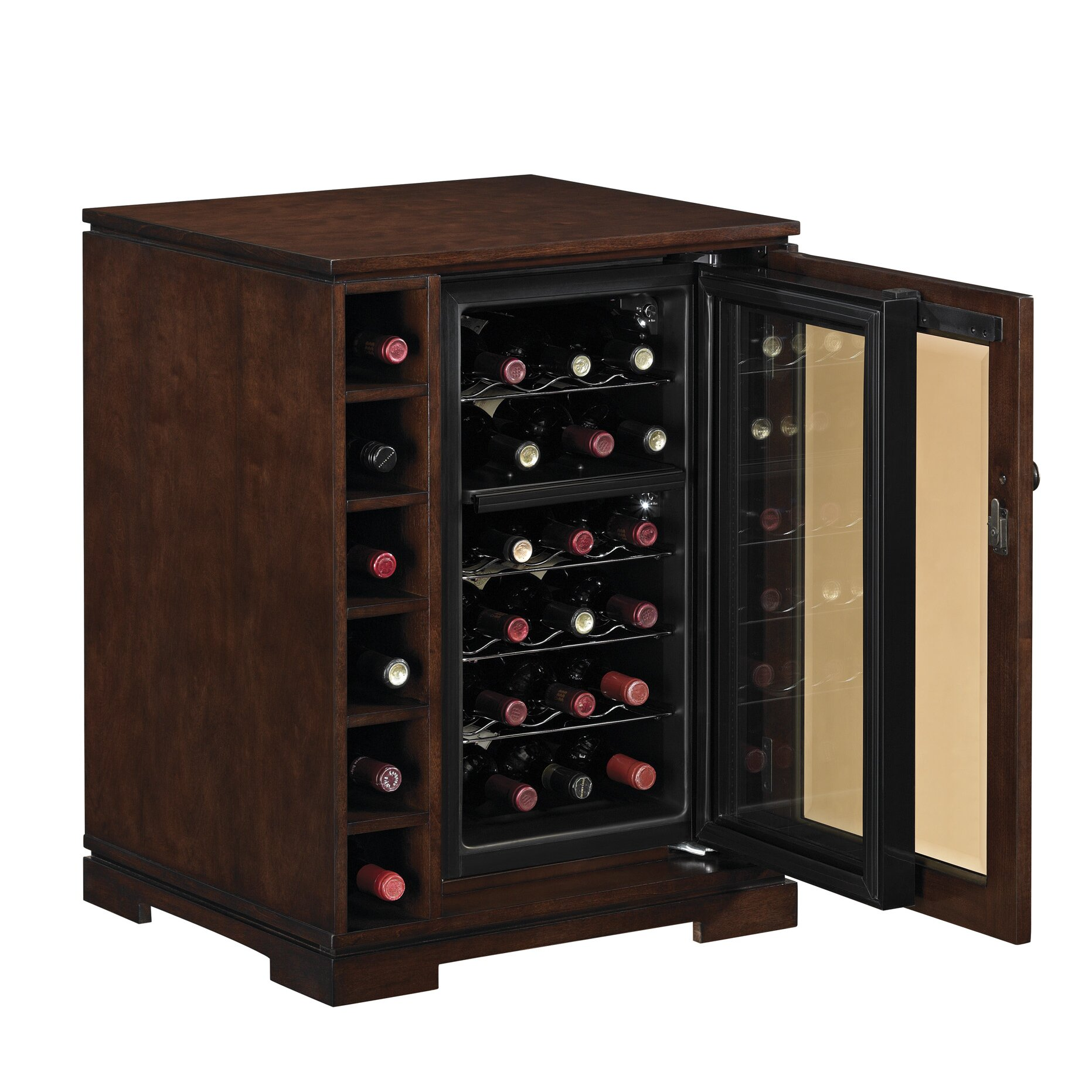 kitchen wine coolers cabinets tresanti cabernet 18 bottle wine cabinet amp reviews wayfair 6484
