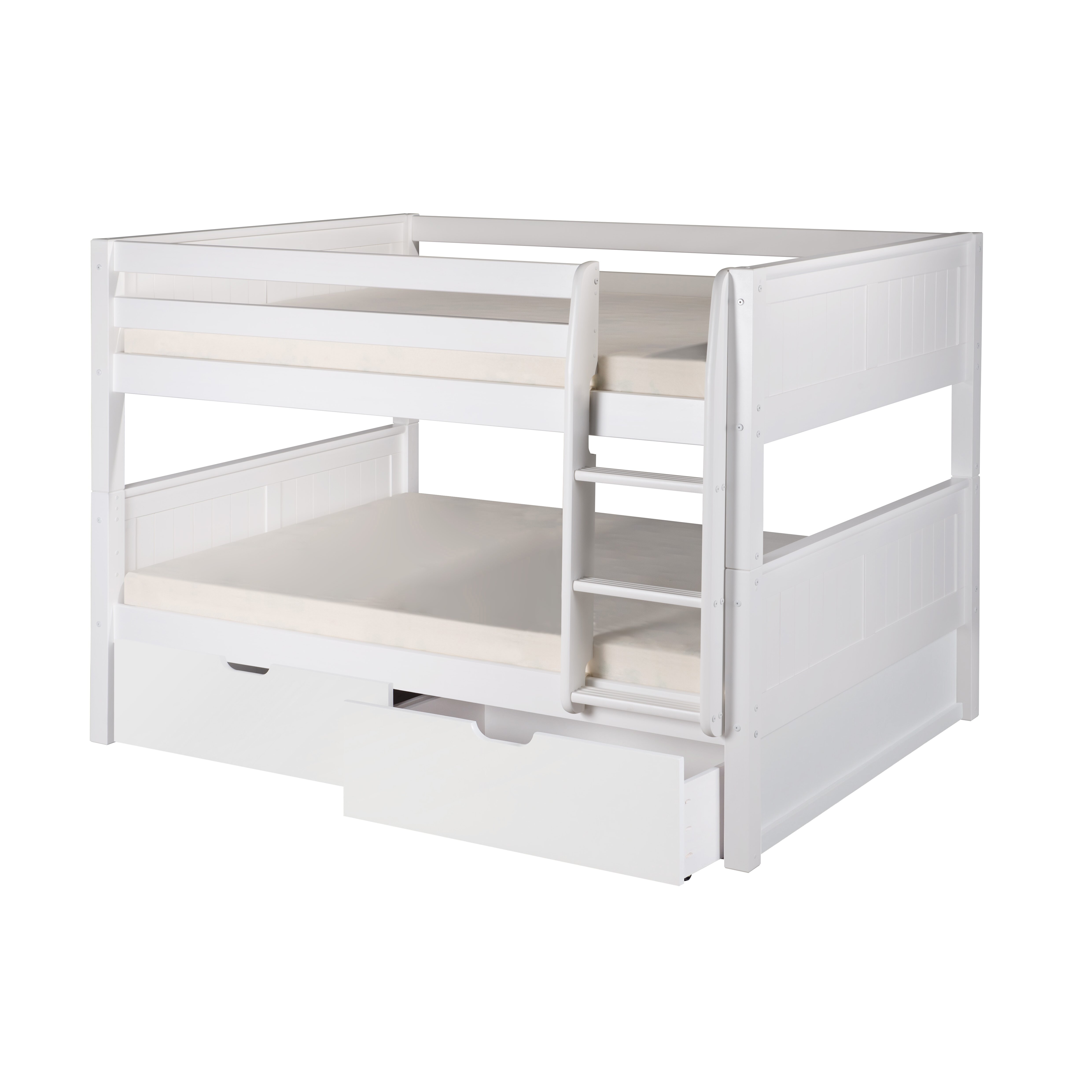 Camaflexi camaflexi full over full bunk bed with storage reviews wayfair - Kids bed with drawers underneath ...