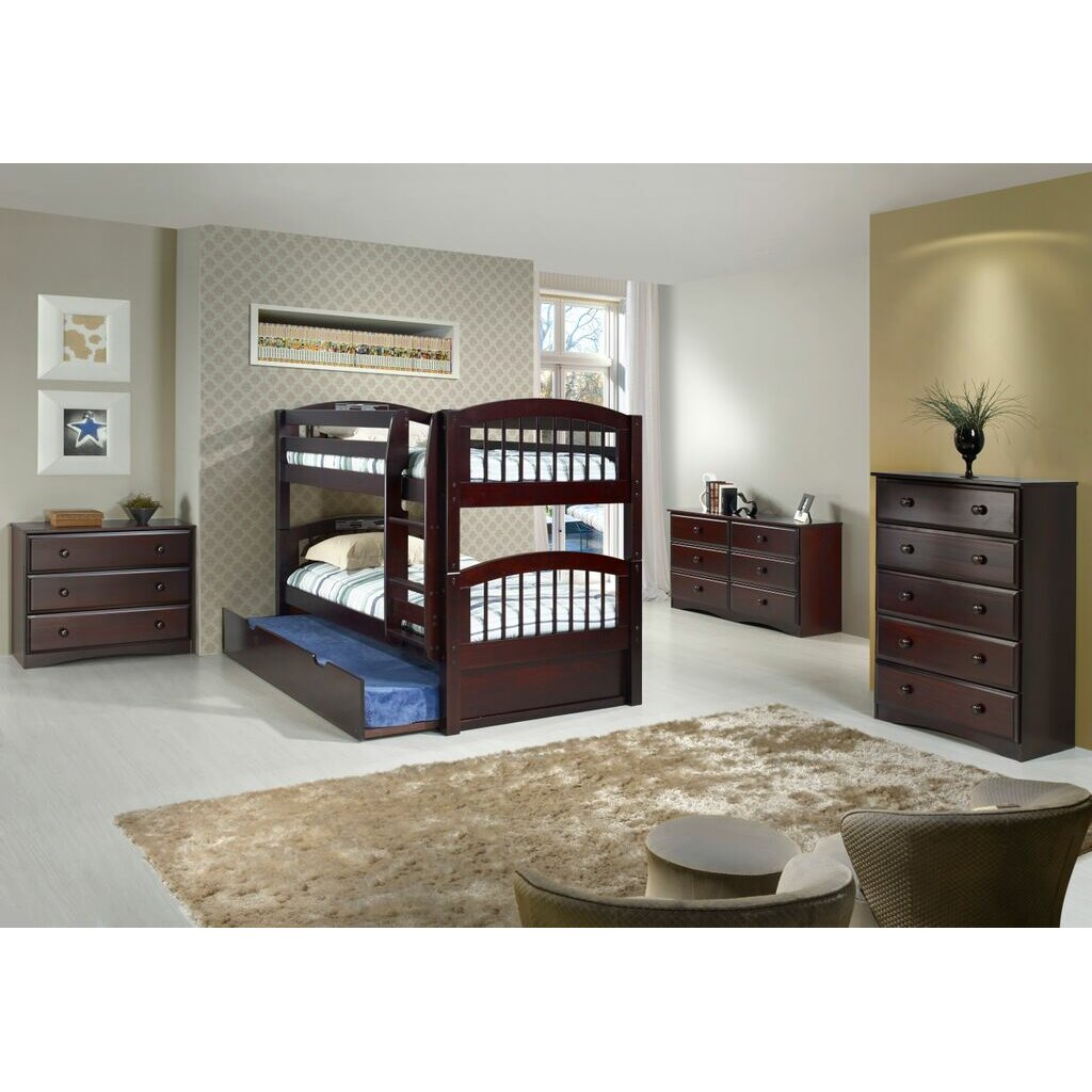 Camaflexi Camaflexi Twin Bunk Bed With Storage Amp Reviews