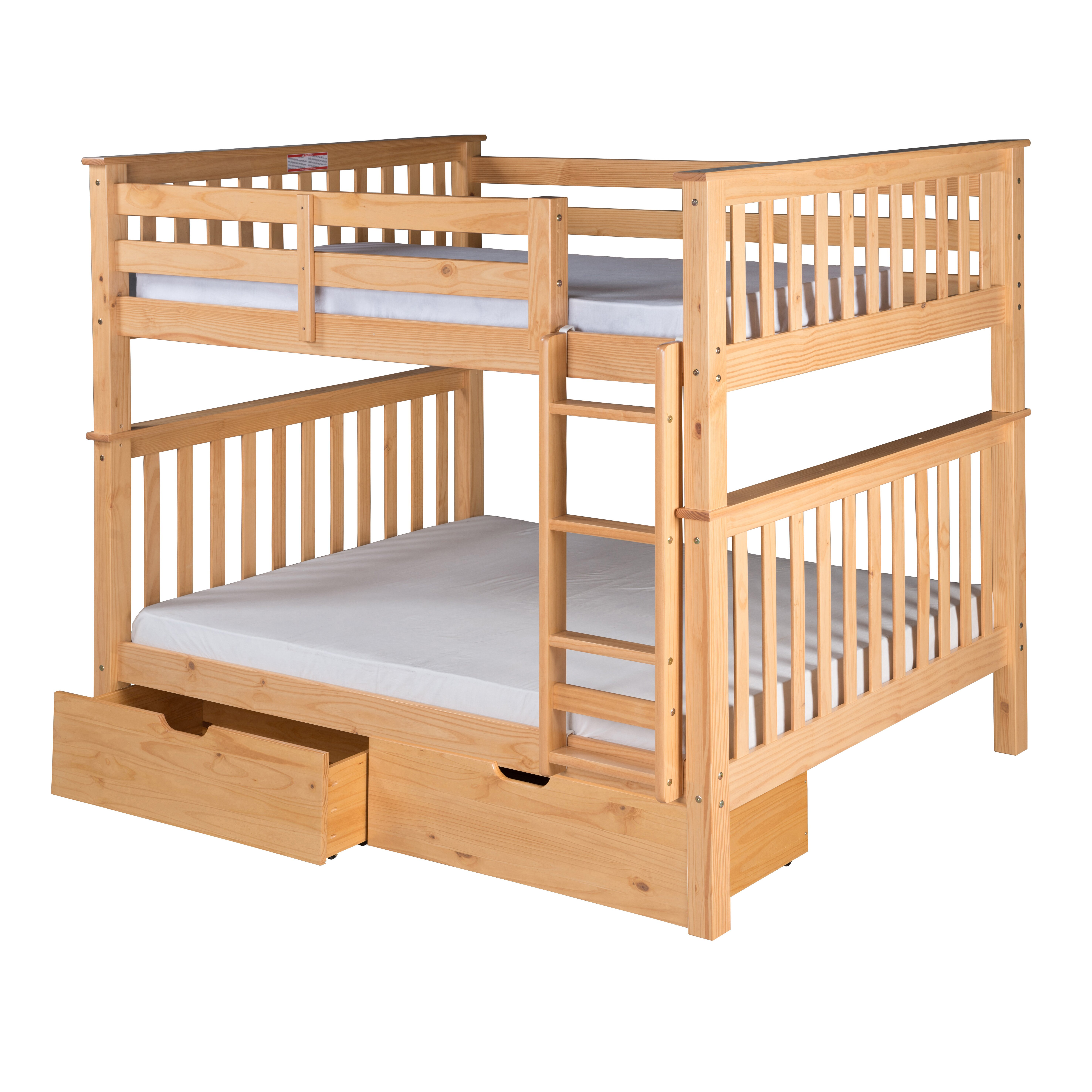 Camaflexi santa fe mission bunk bed with storage reviews wayfair - Kids bed with drawers underneath ...