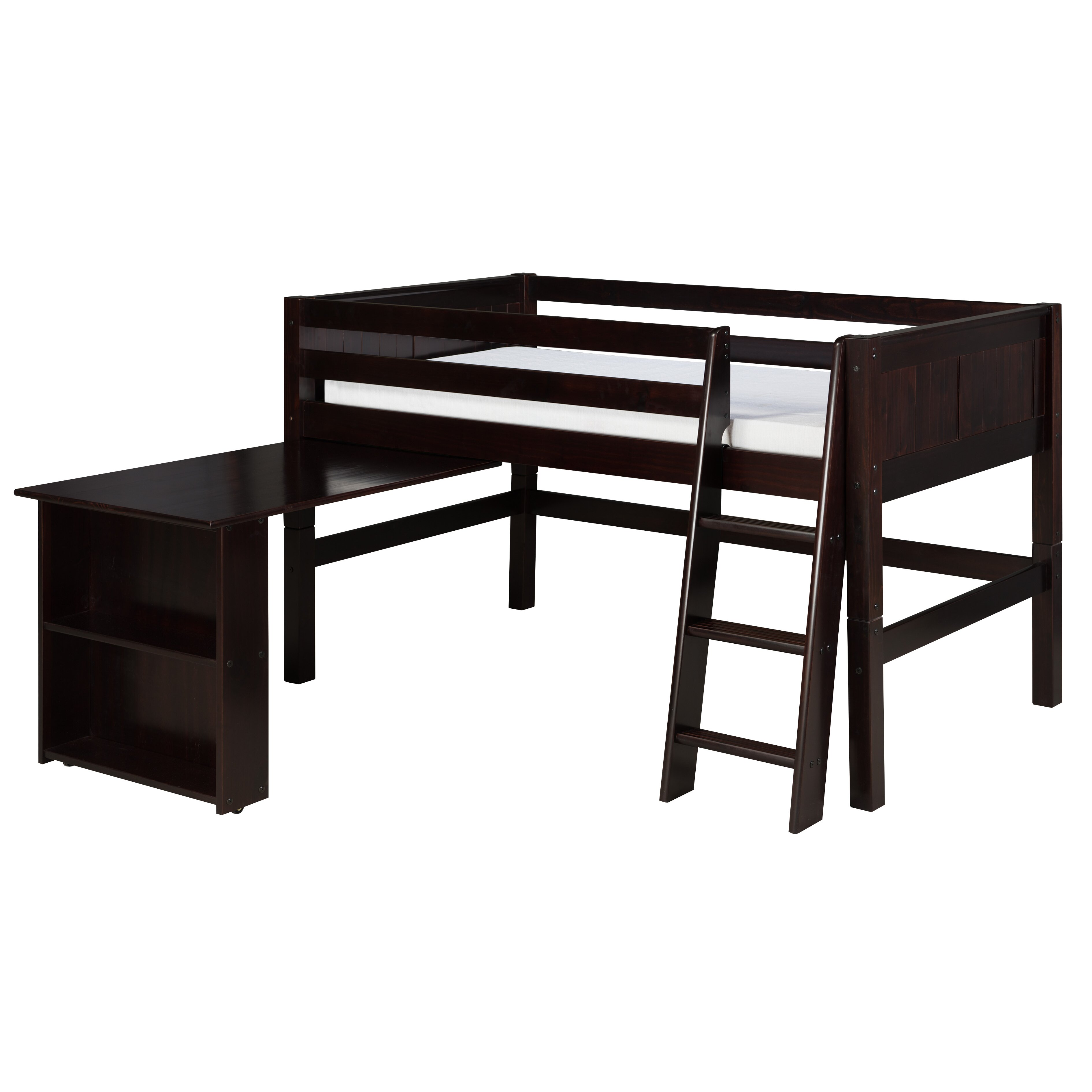 Camaflexi Camaflexi Twin Low Loft Bed Amp Reviews Wayfair