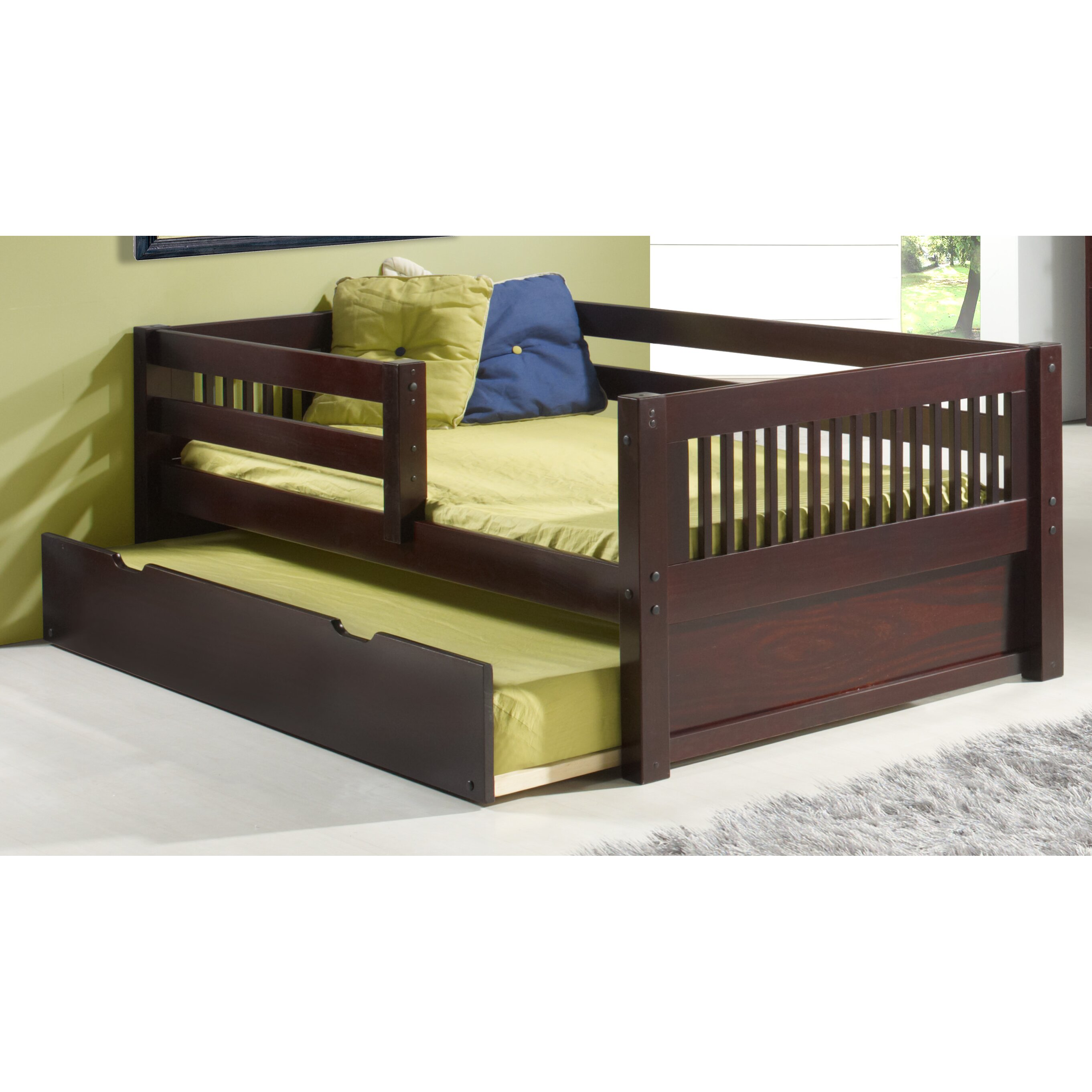 Camaflexi convertible toddler bed with trundle reviews for Beds with trundle
