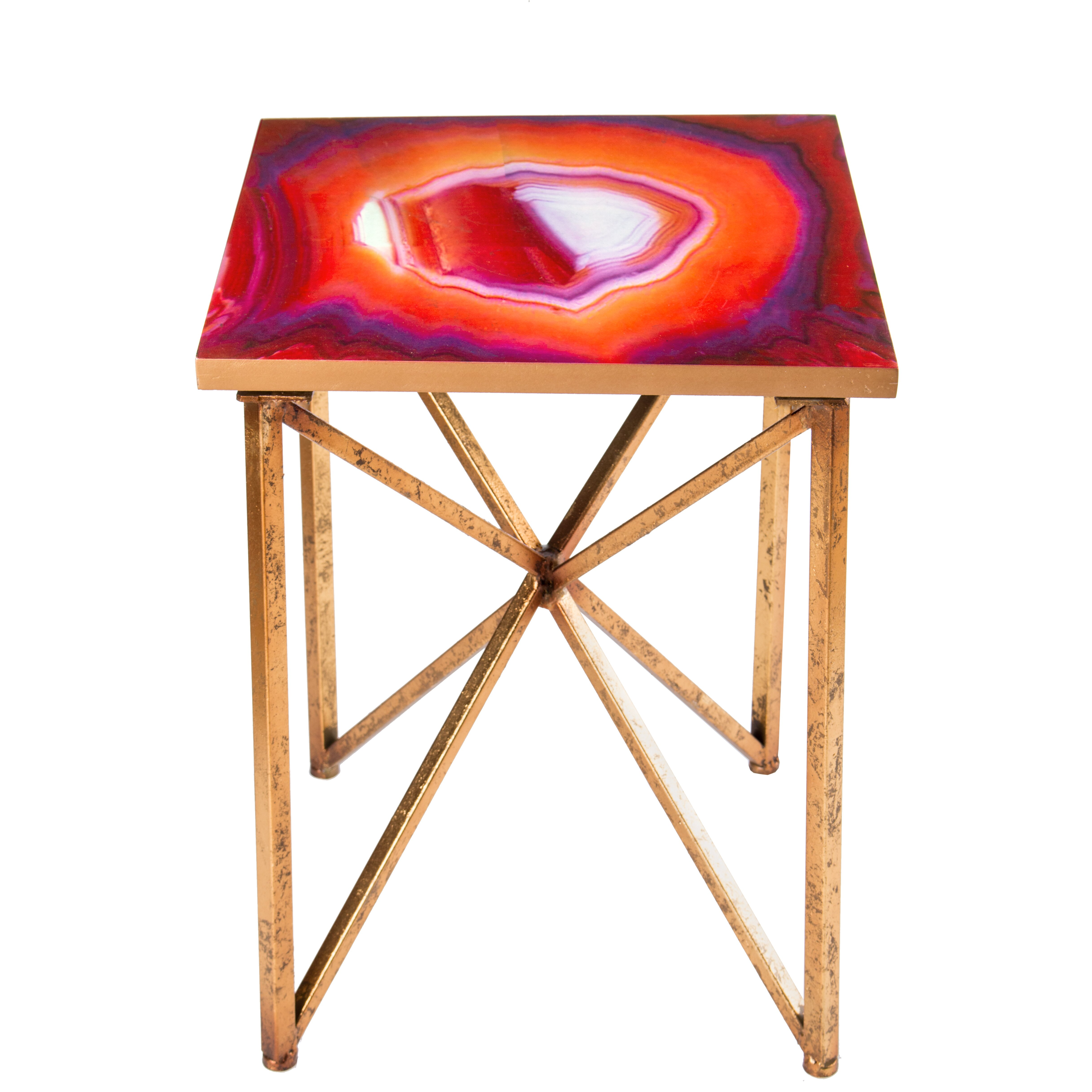 Statements by j rouge end table reviews wayfair for Geode side table