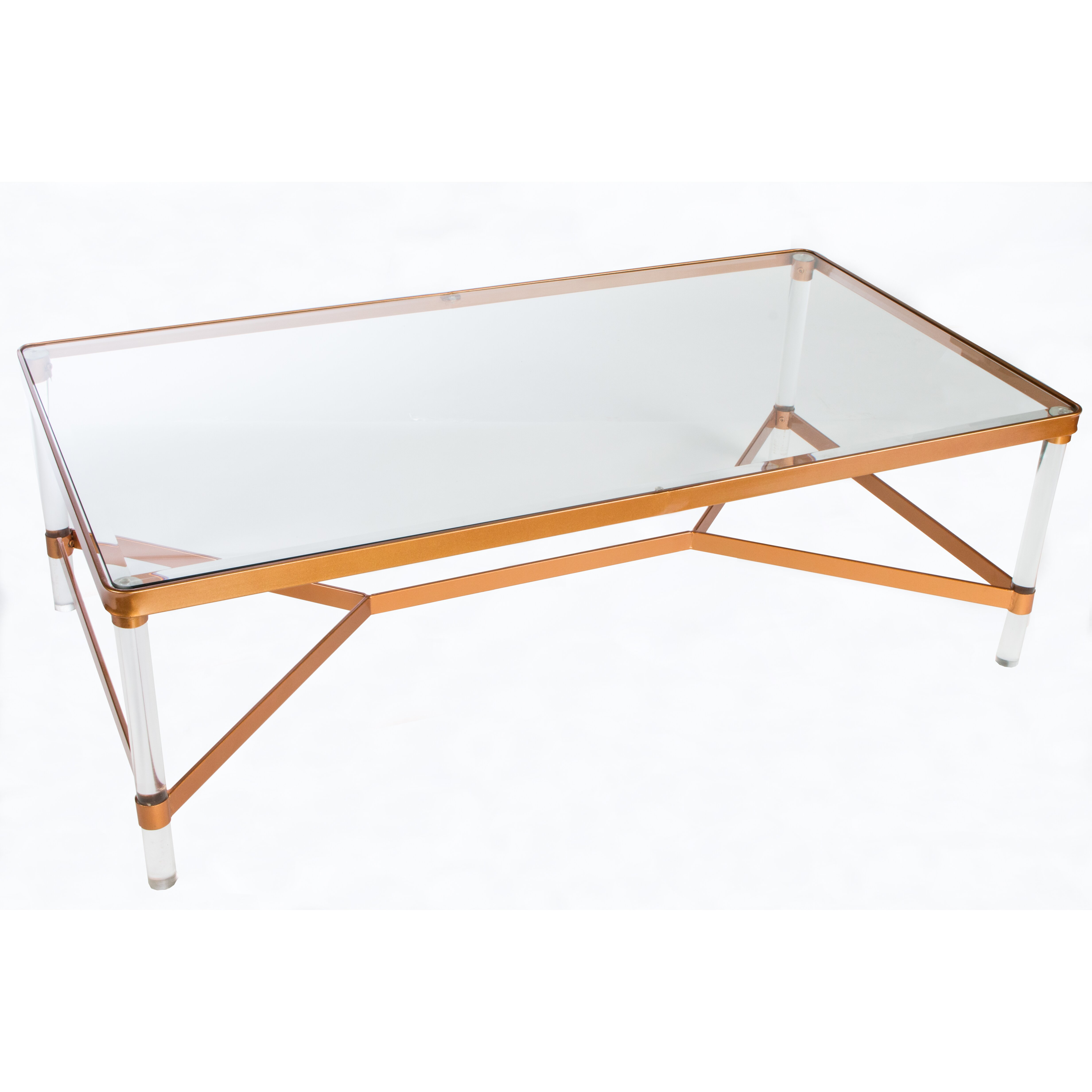 Acrylic And Glass Coffee Table: Statements By J Mireille Acrylic Coffee Table & Reviews