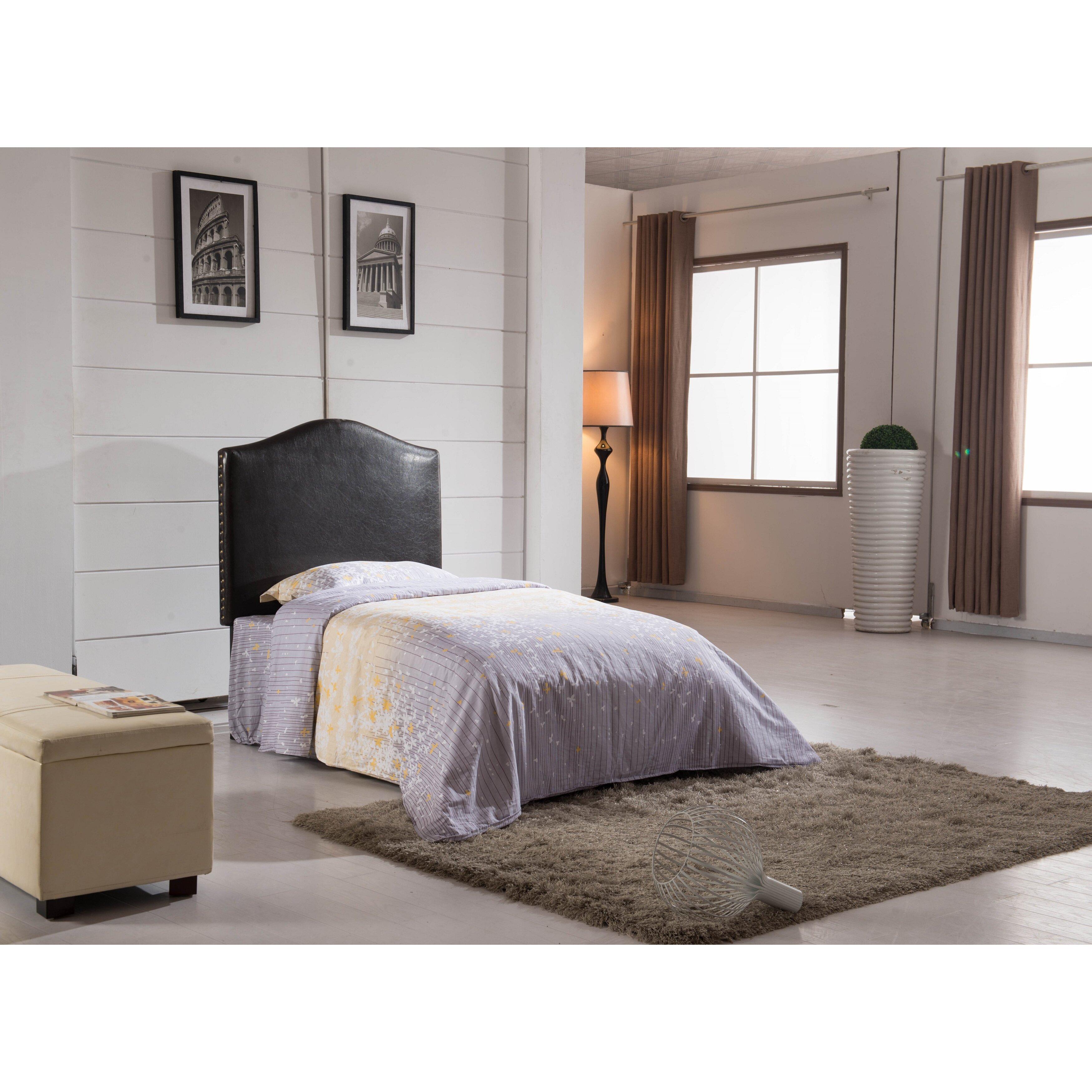 Noya Usa Castilian Upholstered Storage Bedroom Bench: NOYA USA Classic Twin Upholstered Headboard & Reviews