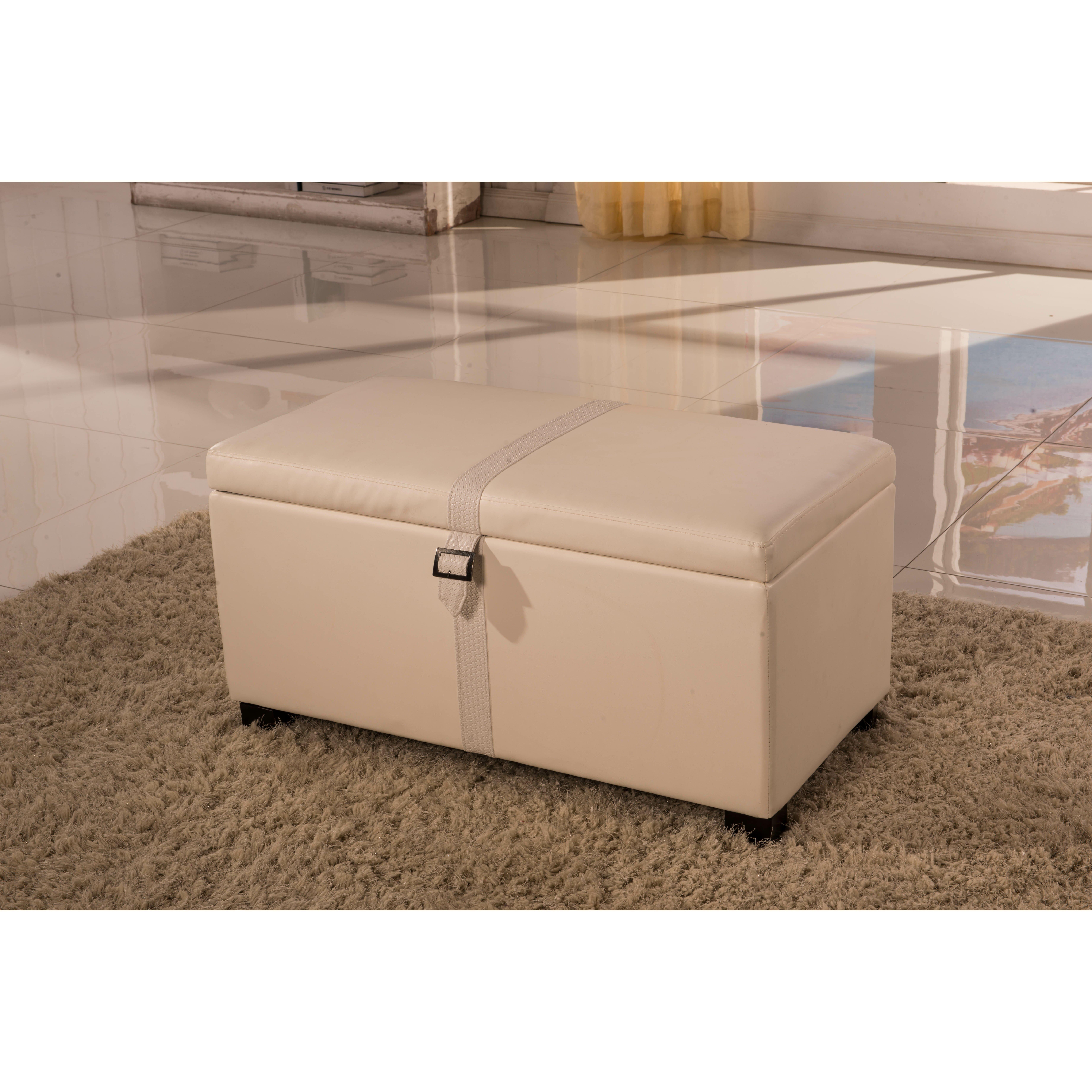 Noya Usa Castilian Upholstered Storage Bedroom Bench: NOYA USA Classic Storage Bedroom Bench
