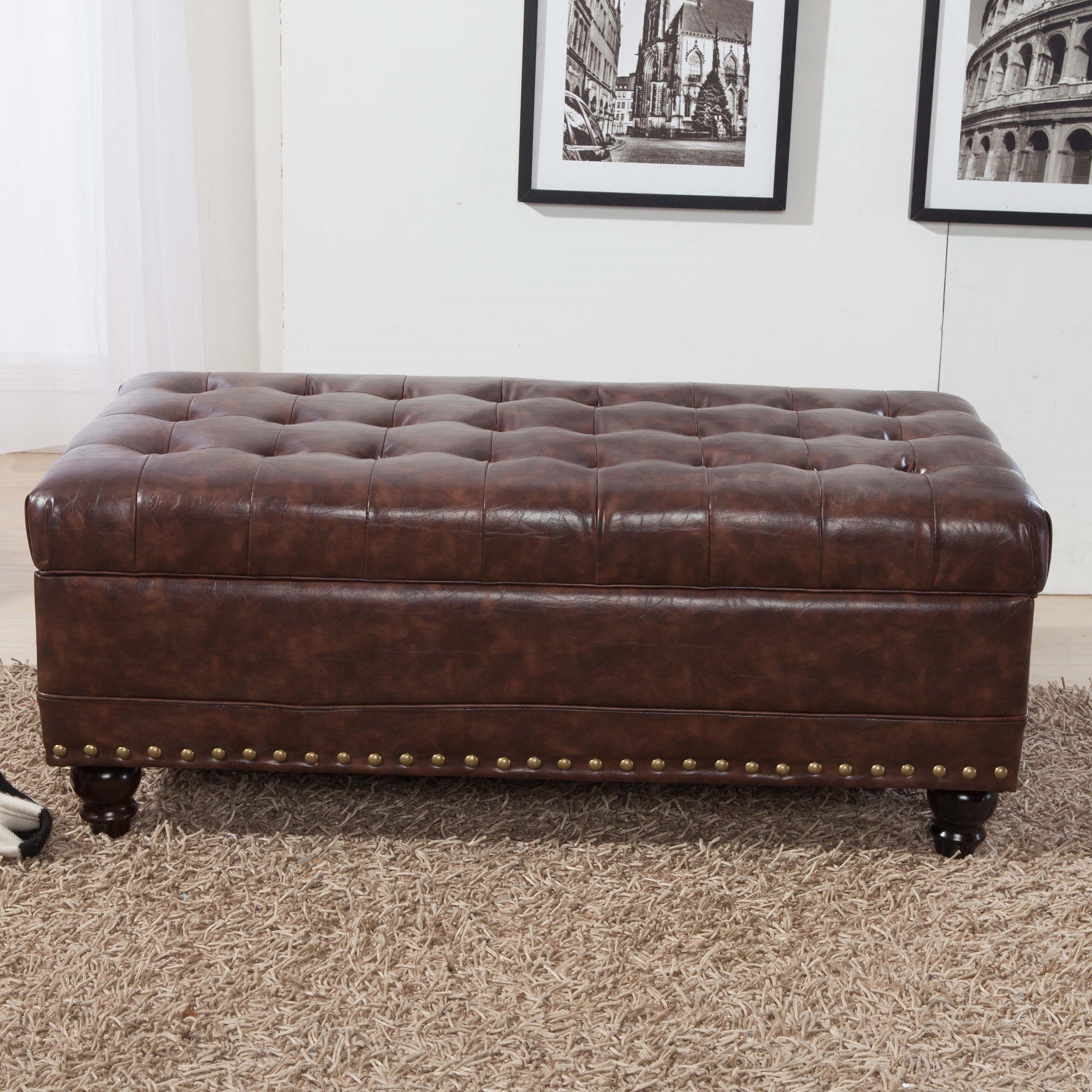 Varian Upholstered Storage Bedroom Bench Reviews: NOYA USA Castilian Upholstered Storage Bedroom Bench