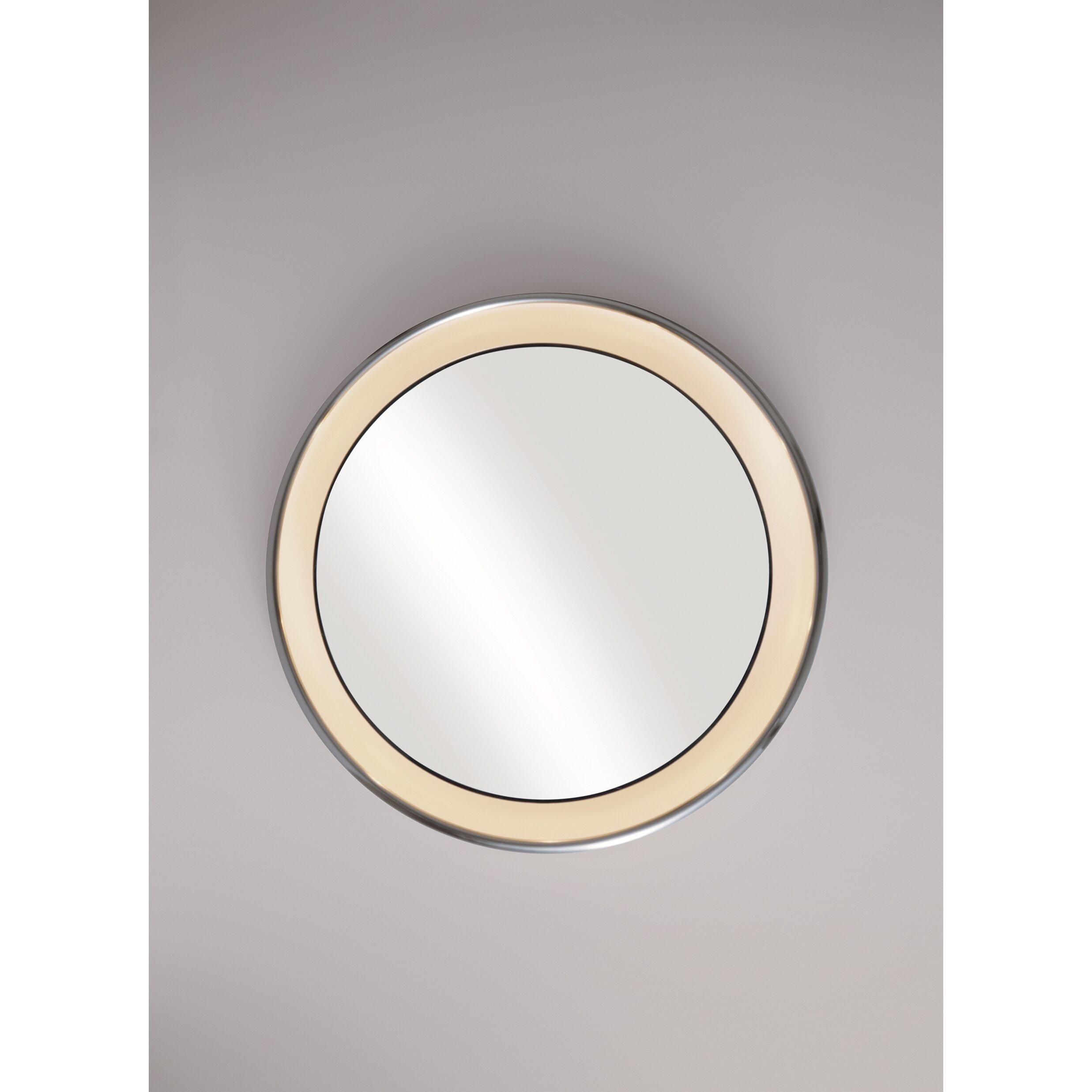 Tech lighting tigris round bath mirror wayfair for Round bathroom mirrors