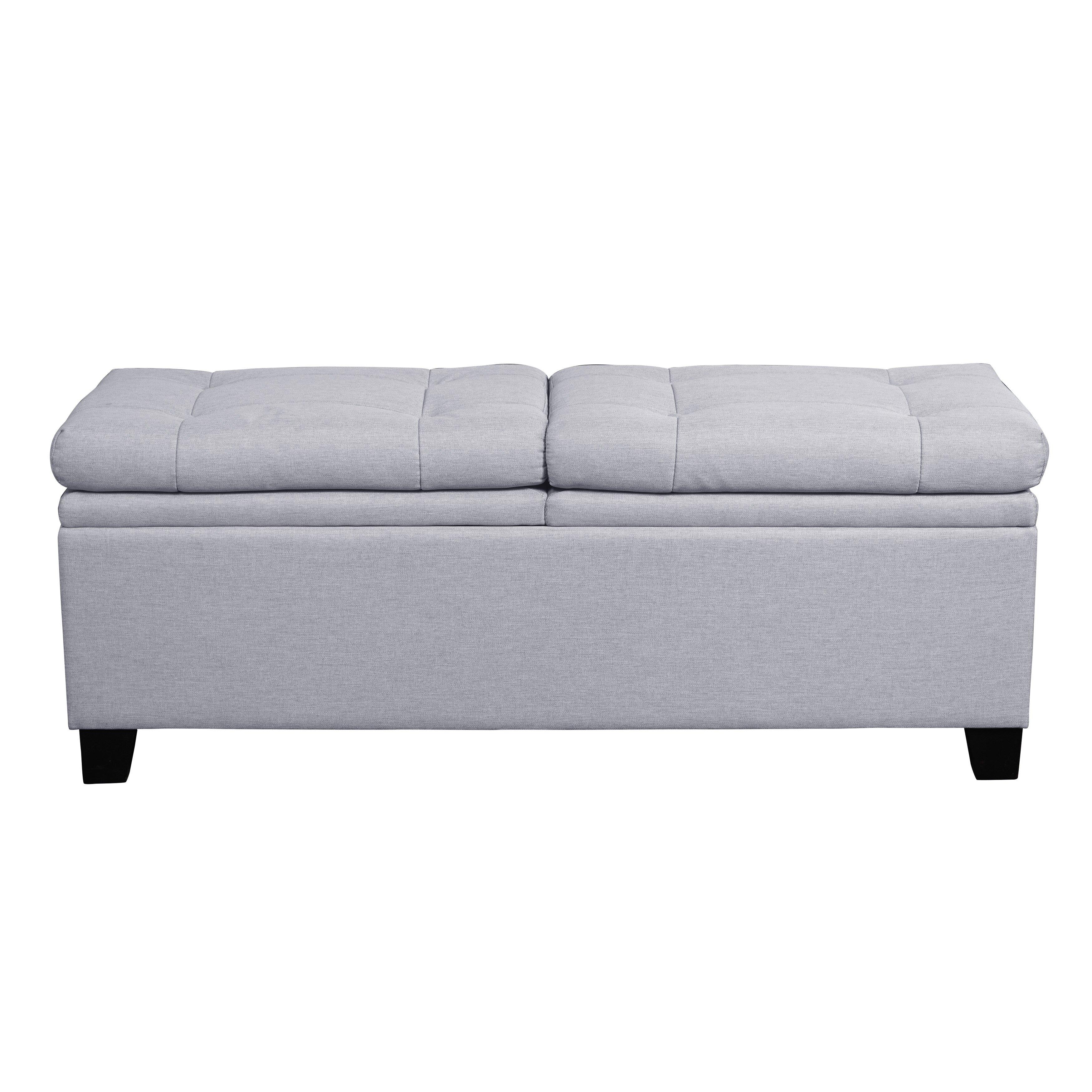 Pri Lilac Fields Upholstered Bedroom Storage Bench Reviews Wayfair