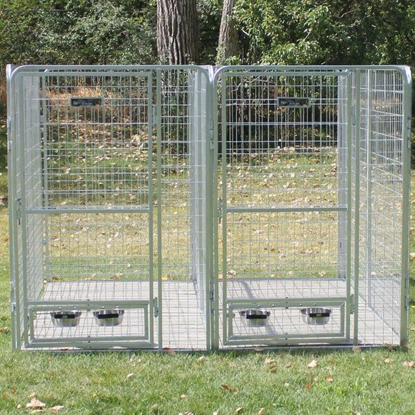 K9 Kennel 2 Dog Galvanized Steel Yard Kennel & Reviews