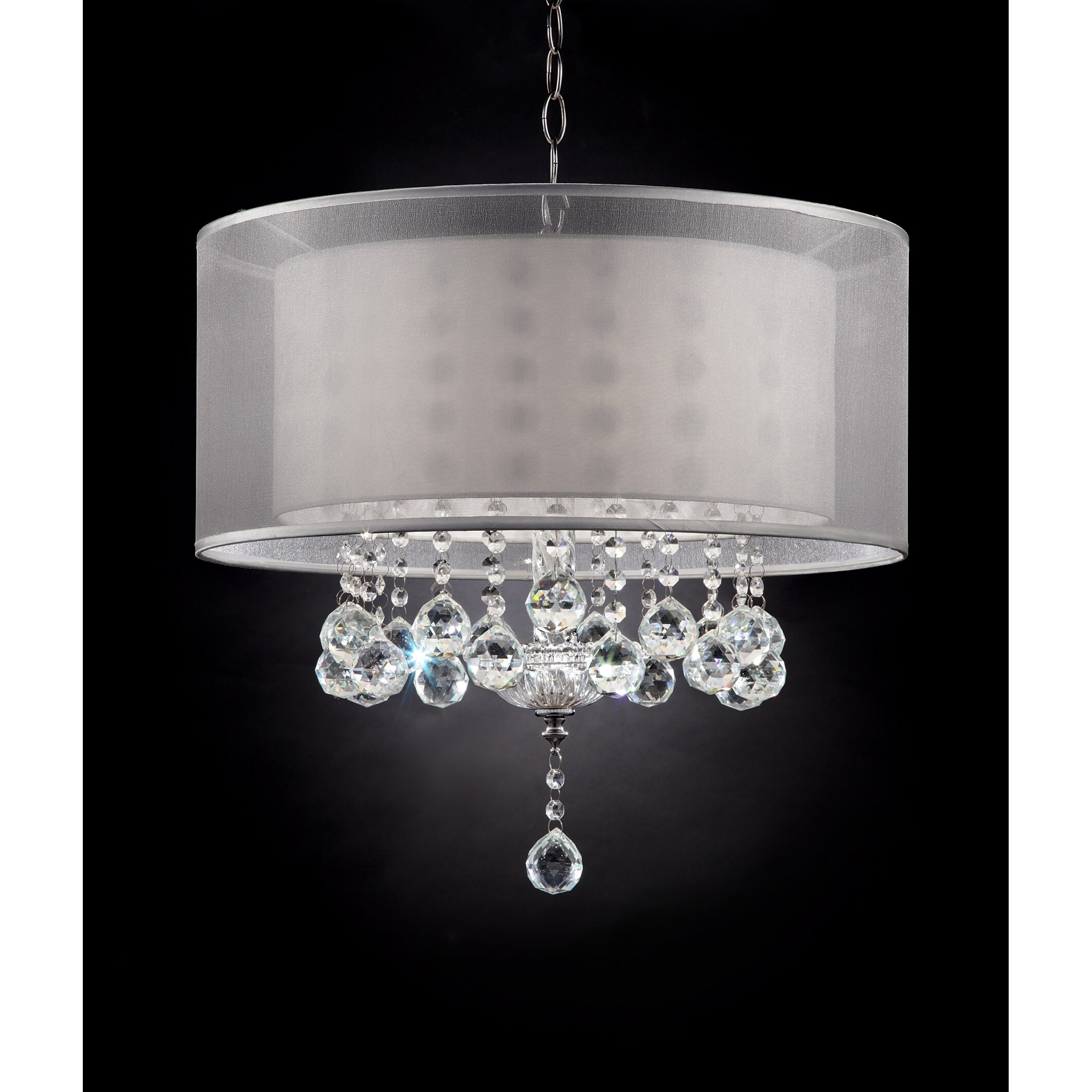 ok lighting moiselle drum chandelier chandeliers pendants wayfair drum lighting