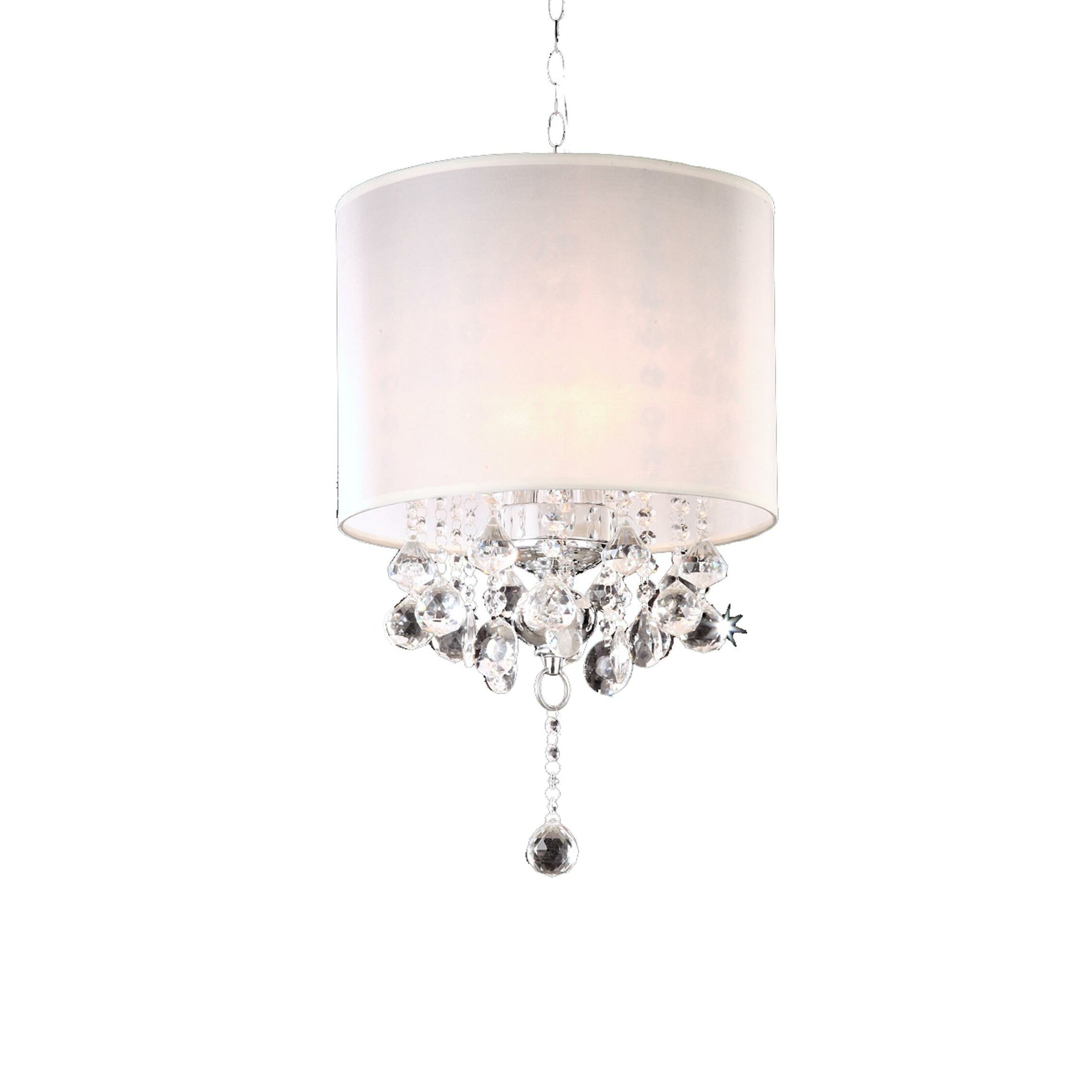 Wayfair Chandelier: OK Lighting 3 Light Crystal Chandelier & Reviews