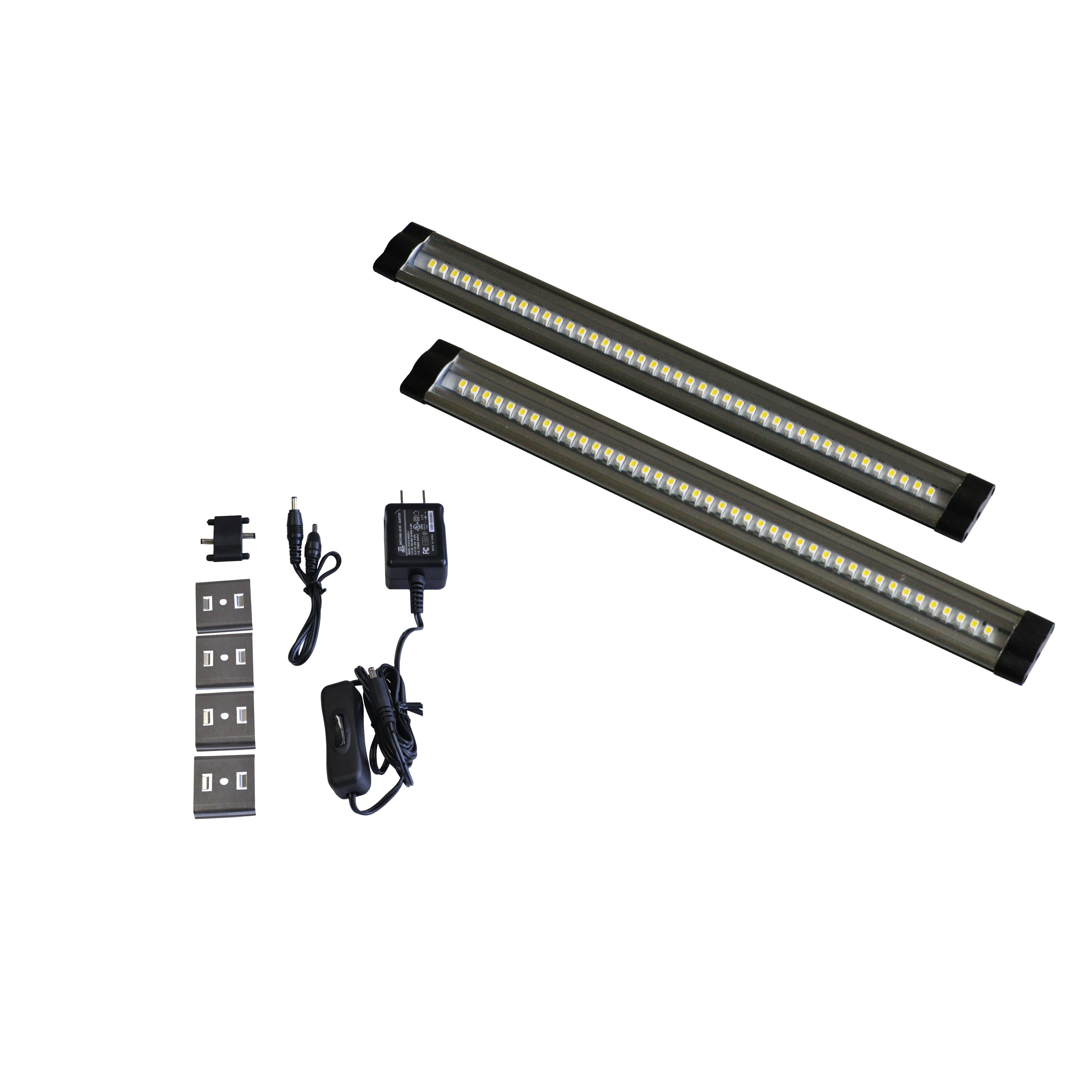 "24 Led Under Cabinet Strip Light: Radionic Hi Tech Eco 24"" LED Under Cabinet Strip Light"
