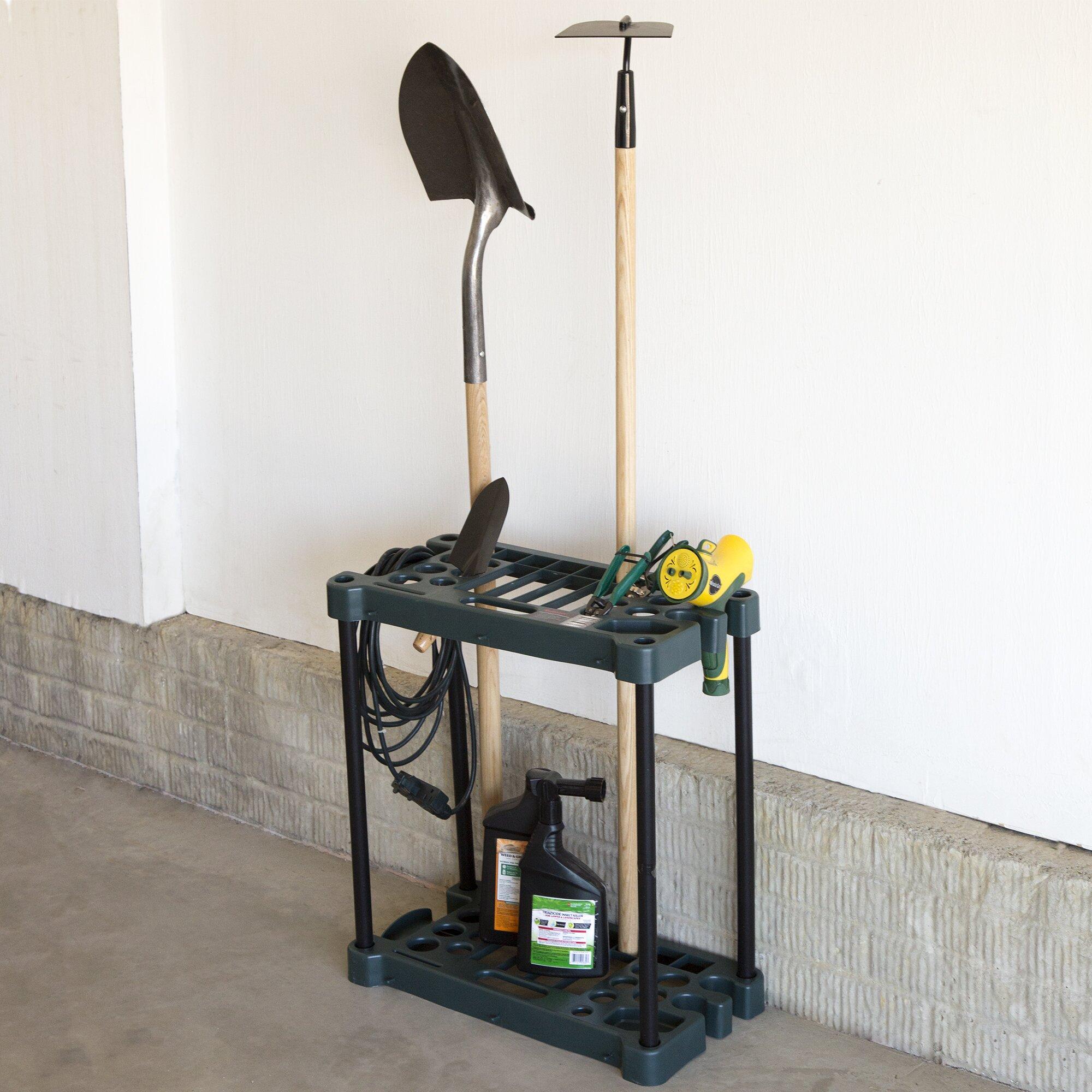stalwart compact garden tool rack reviews. Black Bedroom Furniture Sets. Home Design Ideas